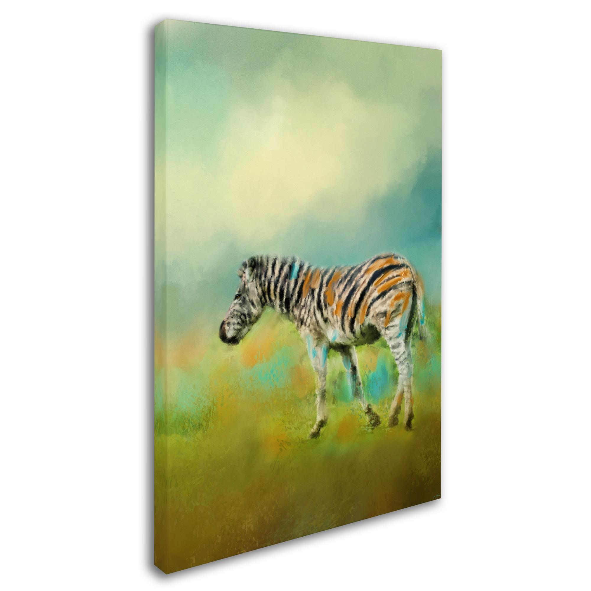Jai Johnson \'Summer Zebra 2\' Canvas Art - Free Shipping On Orders ...