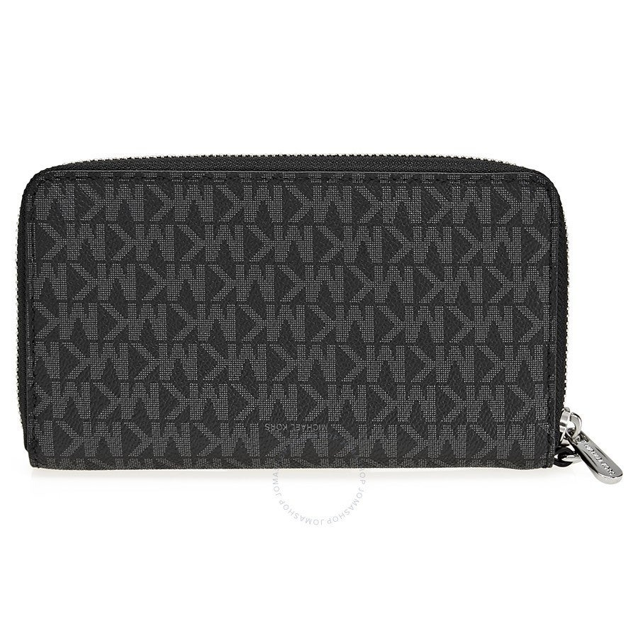 5c3093dcbe8c Shop Michael Kors Jet Set Item Large Black Signature Flat Multi Function  Phone Case Wallet - Free Shipping Today - Overstock - 16589247