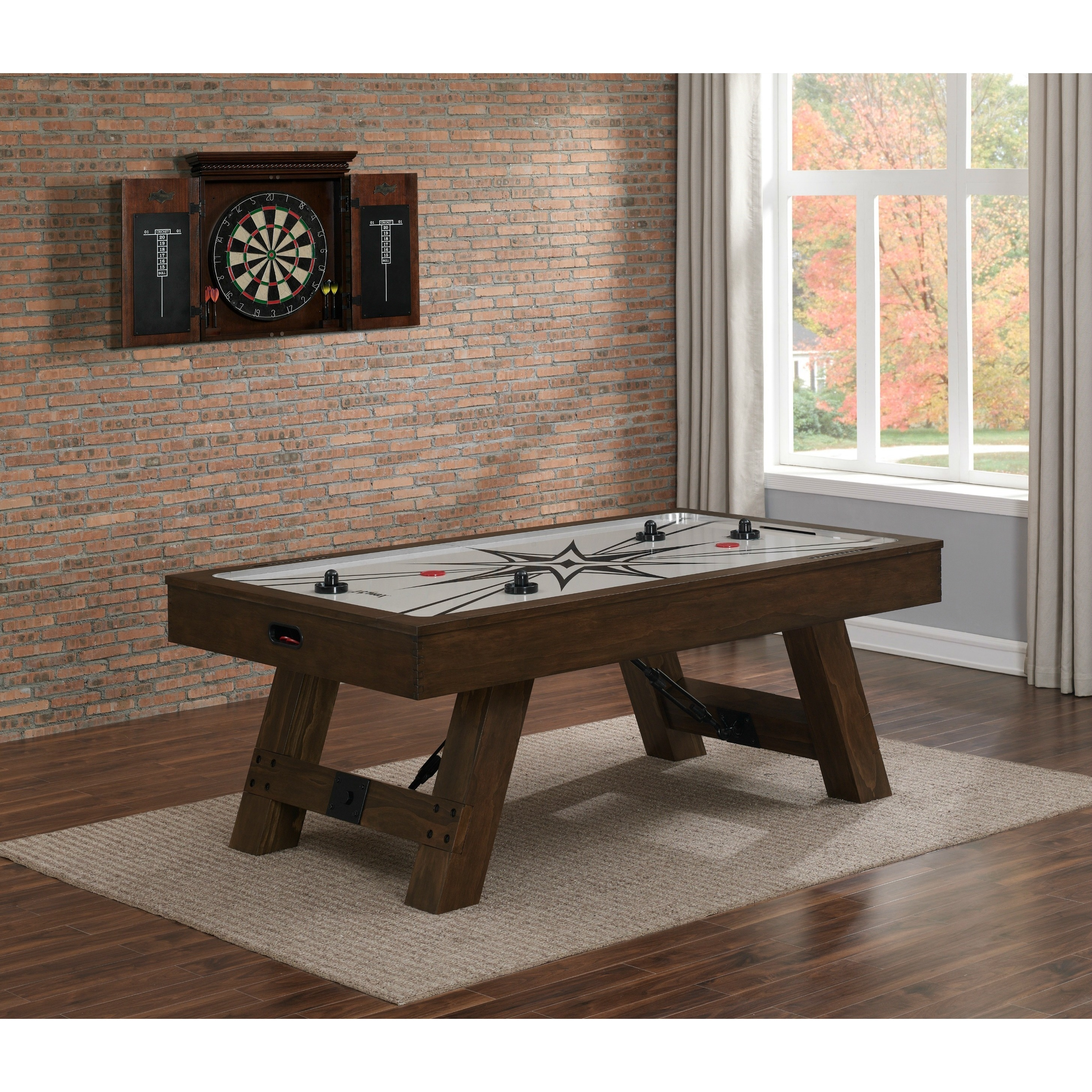 Attirant Savannah Brown Wood Air Hockey Table   Free Shipping Today   Overstock    22919301