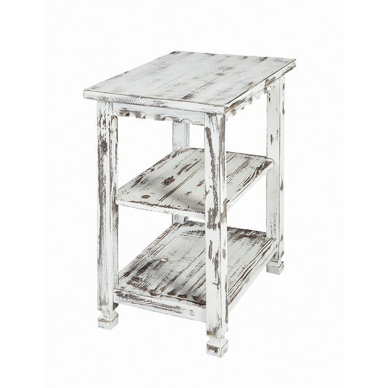 Alaterre Country Cottage Distressed Wood 2 Shelf End Table On Free Shipping Today 16592602