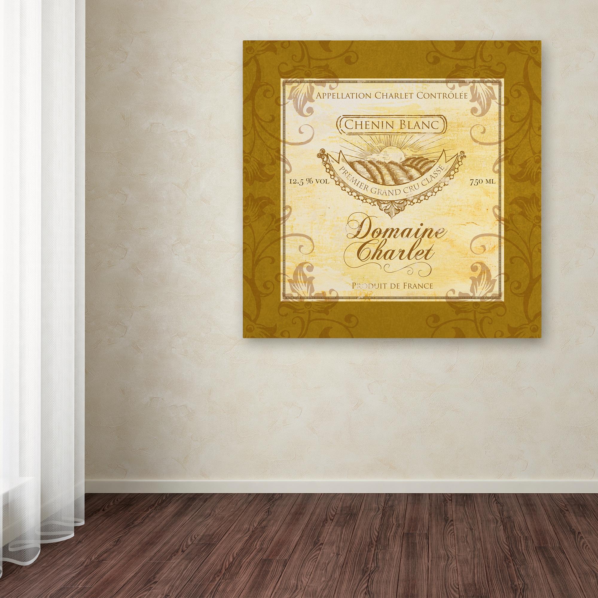 Shop Fiona Stokes-Gilbert \'Wine Label 5\' Canvas Art - On Sale - Free ...