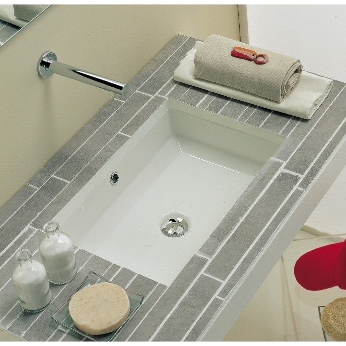 Shop 21-3/8-inch European Style Rectangular Shape Porcelain Ceramic Bathroom Undermount Sink - Free Shipping Today - Overstock.com - 16601534
