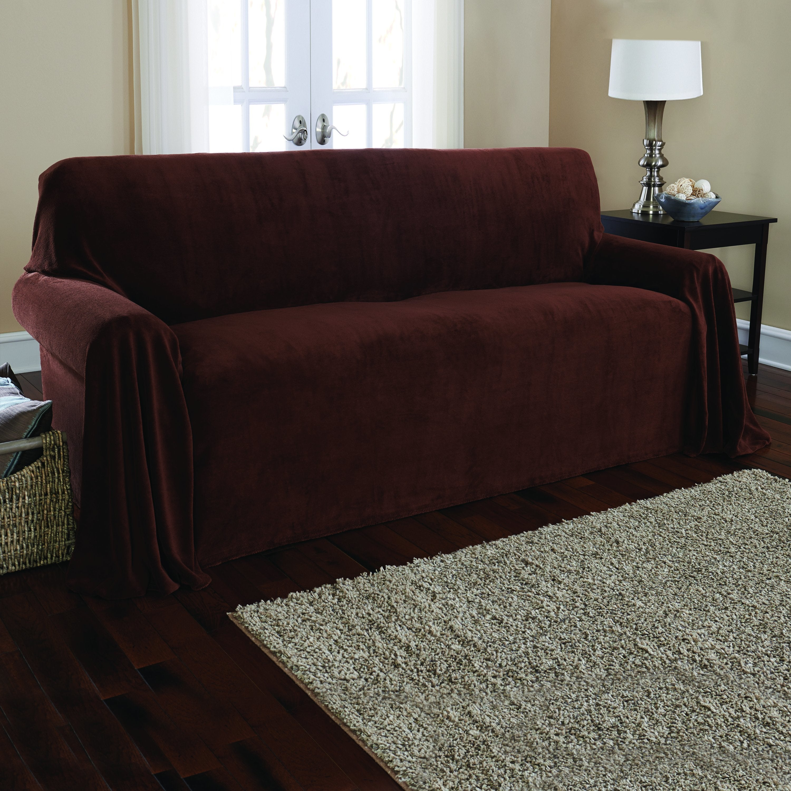 Shop Sure Fit Plush Sofa Throw Free Shipping Today Overstock Com