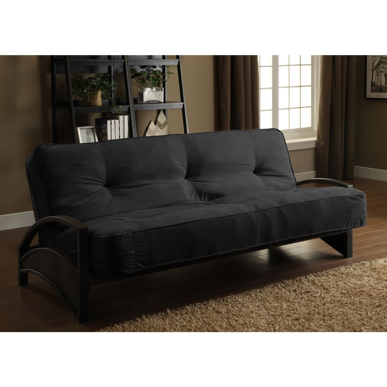Dhp Alessa Black Metal Futon Frame On Free Shipping Today Com 16601883