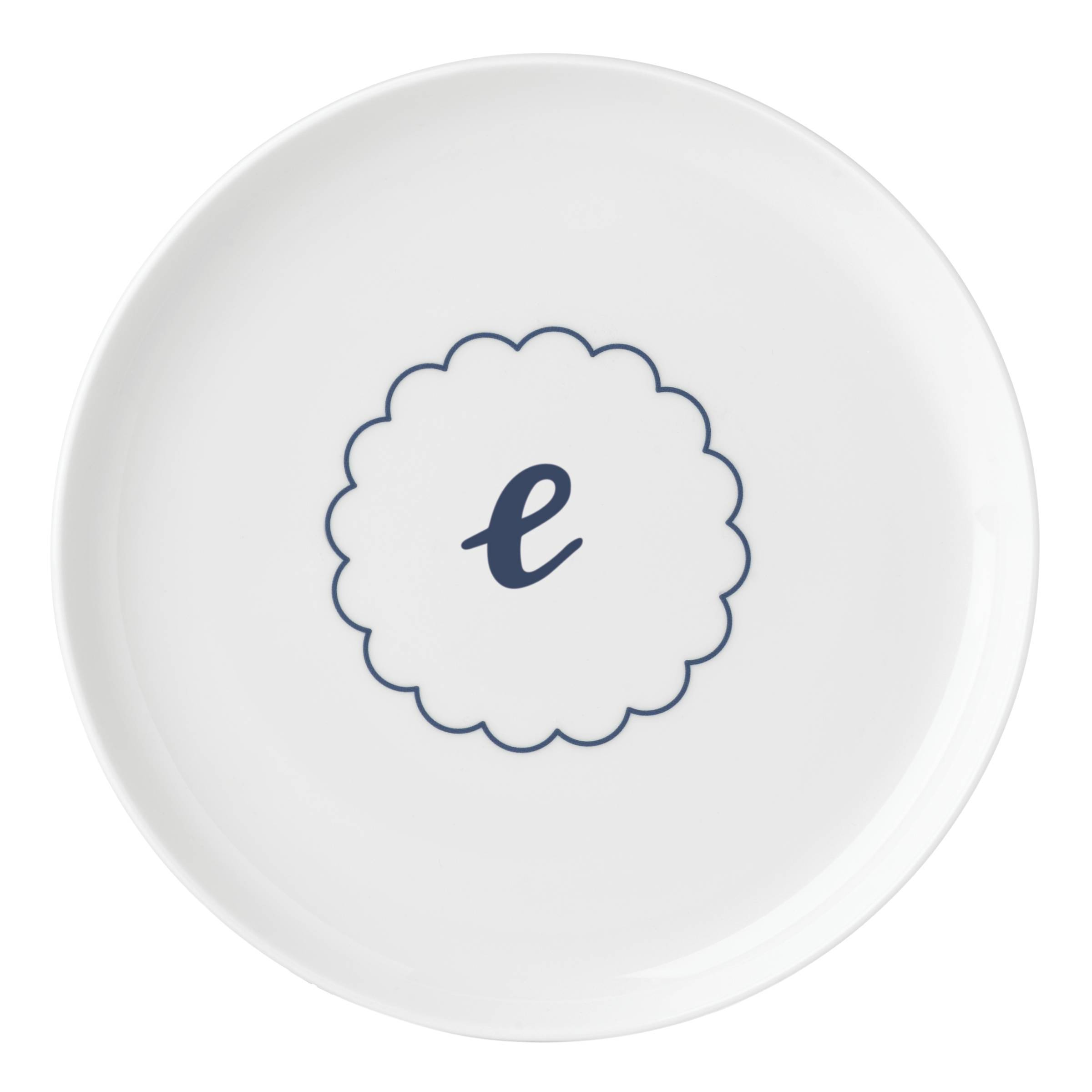 7859f066a69 Shop Lenox I.D. Navy Scallop Accent Plate - Free Shipping On Orders Over   45 - Overstock - 16602609