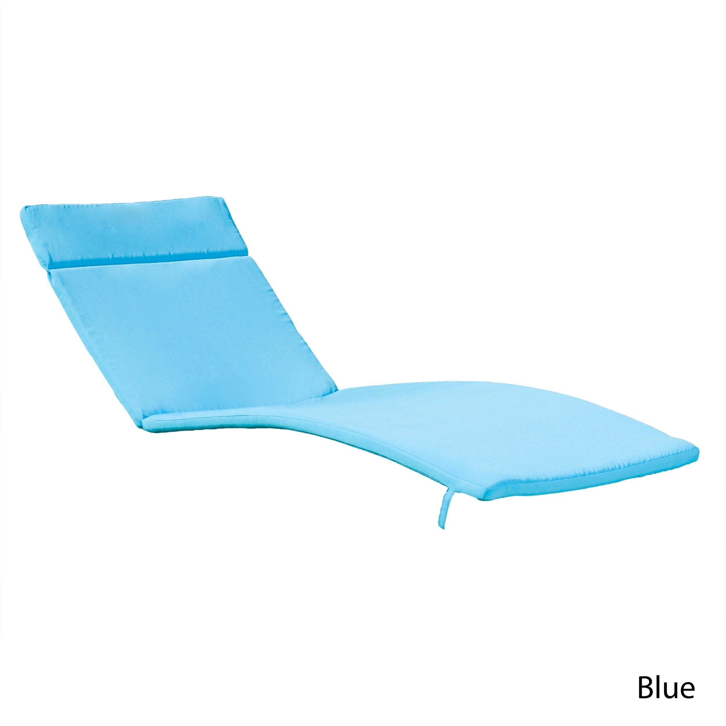 Sienna Outdoor Colored Water Resistant Chaise Lounge Cushion Only By Christopher Knight Home On Free Shipping Today