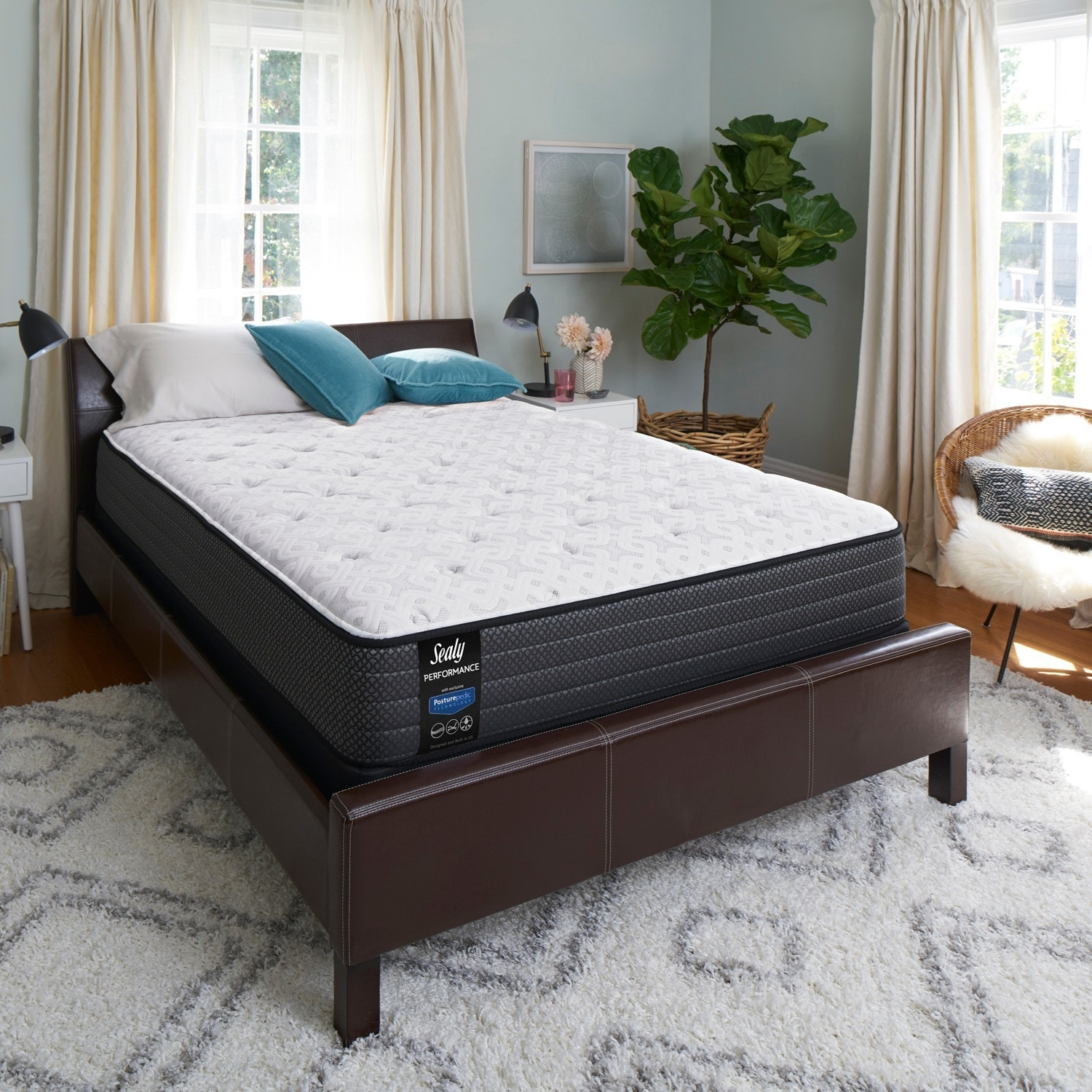 shop sealy response performance 12 inch cushion firm queen mattress on sale free shipping today overstockcom 16603238 - Firm Queen Mattress