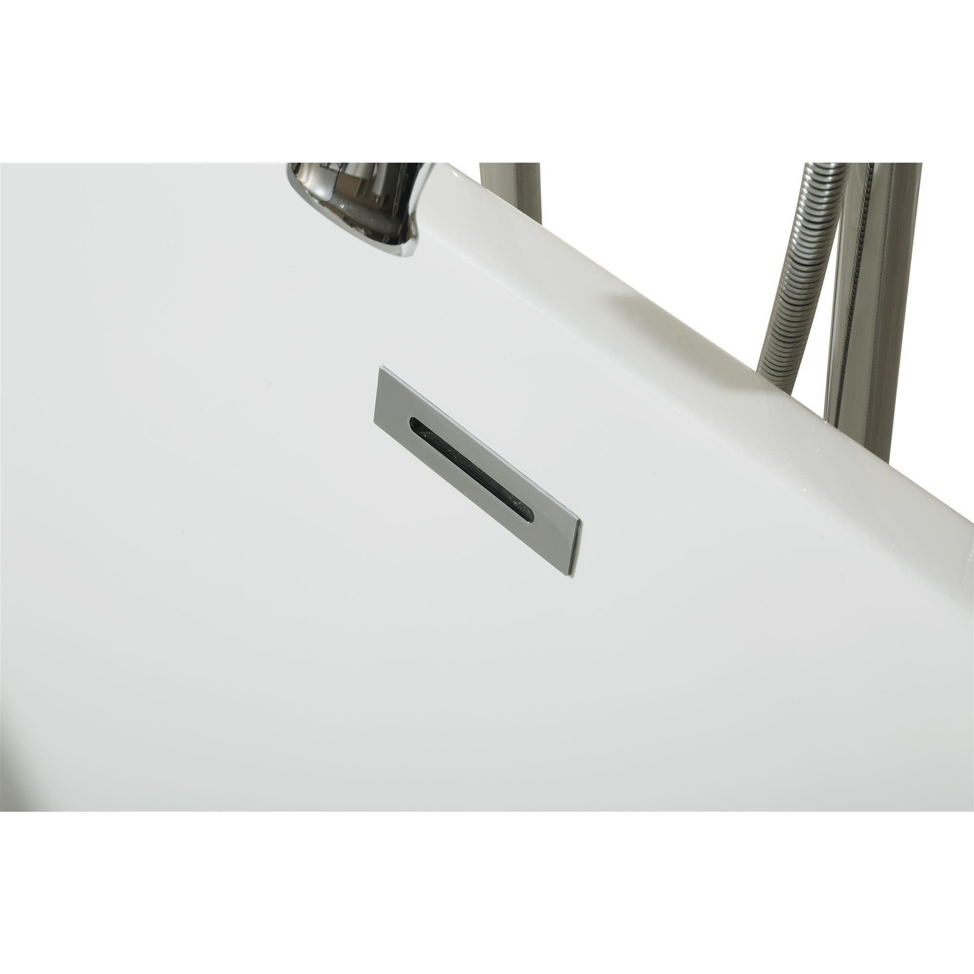 acrylic bathtub overstock soaking shipping today freestanding art product garden vanity bathtubs home white wyndham inch free