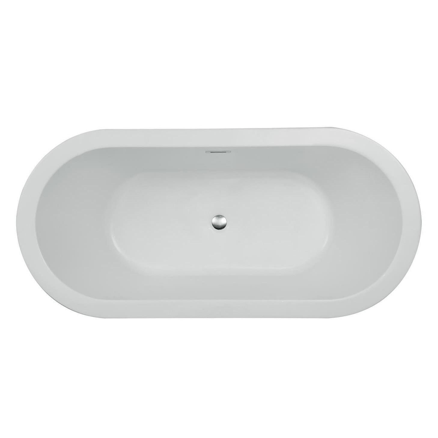 Shop Ariel Platinum Charlotte White Acrylic 67-inch Oval Bathtub ...