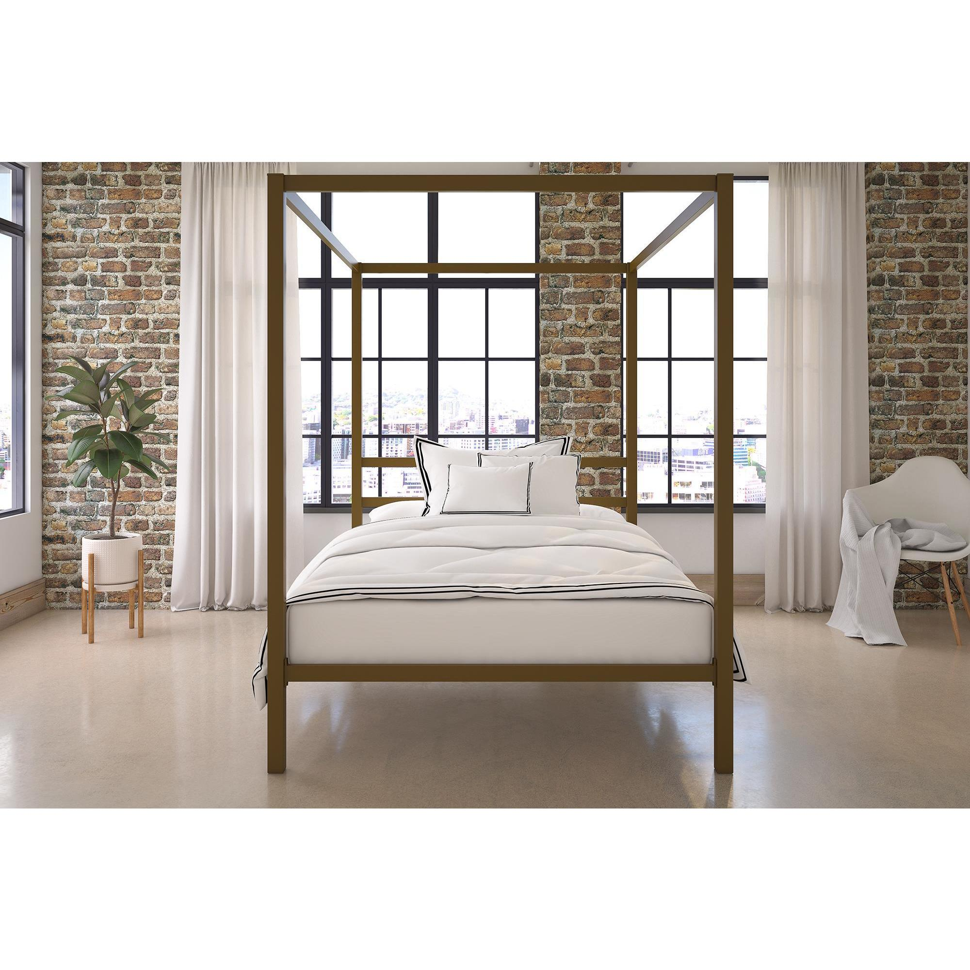 DHP Modern Gold Canopy Bed   Free Shipping Today   Overstock.com   22932043