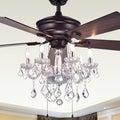 Warehouse of Tiffany Havorand 52-inch 5-blade Ceiling Fan with Crystal Chandelier