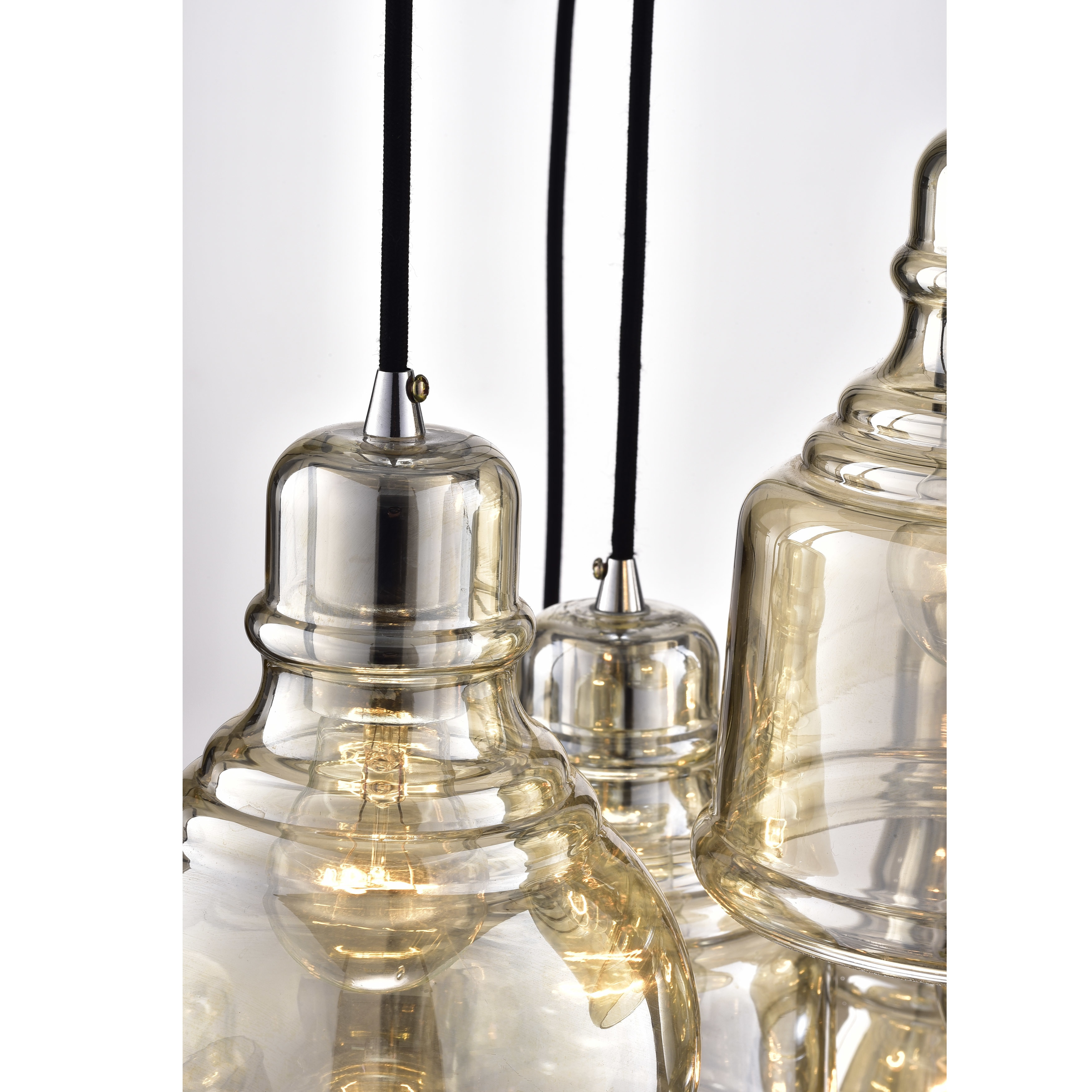 Mariana 8 light cognac glass cluster pendant chandelier with chrome mariana 8 light cognac glass cluster pendant chandelier with chrome finish and round base free shipping today overstock 22942433 arubaitofo Images