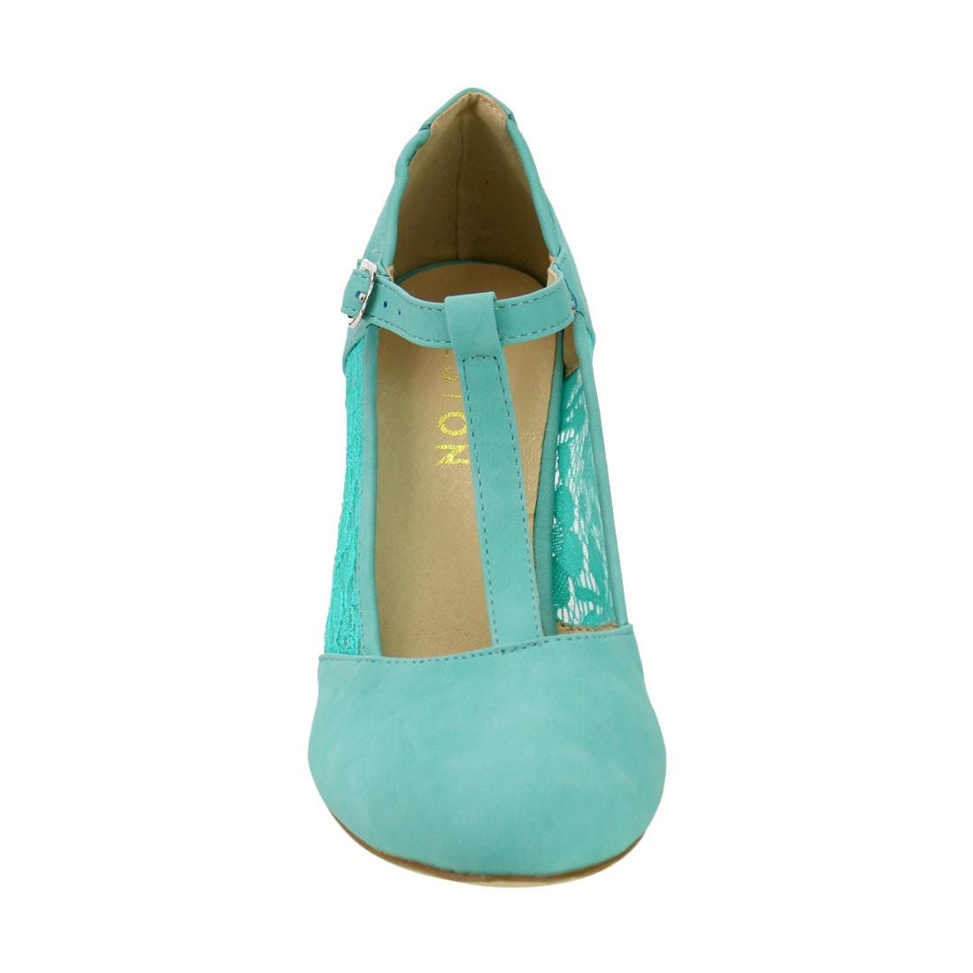 Shop Beston DE31 Women\'s Floral Lace Mary Janes Dress Pumps One Size ...