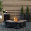 Real Flame Morrison Steel Propane Fire Pit