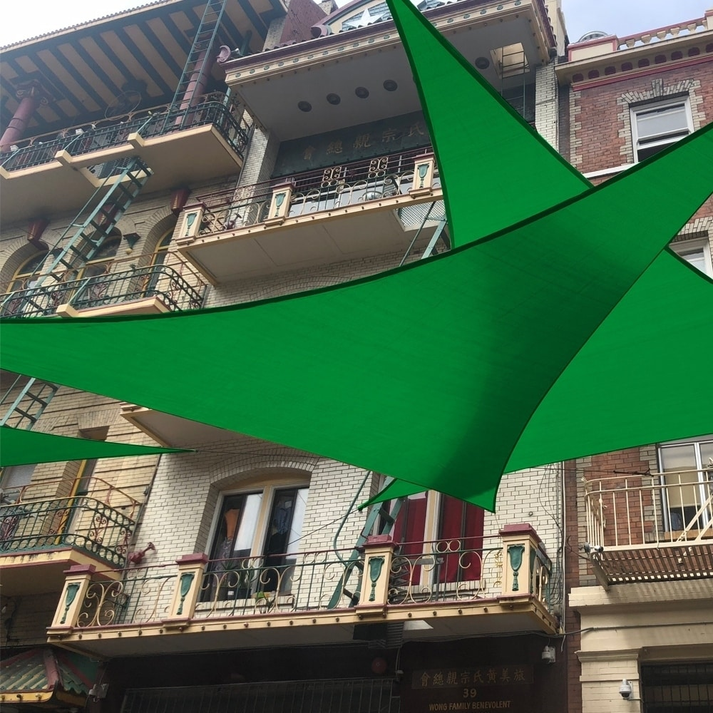 Shop Aleko Triangular Waterproof Sun Shade Sail Canopy 10 X 10 X 10