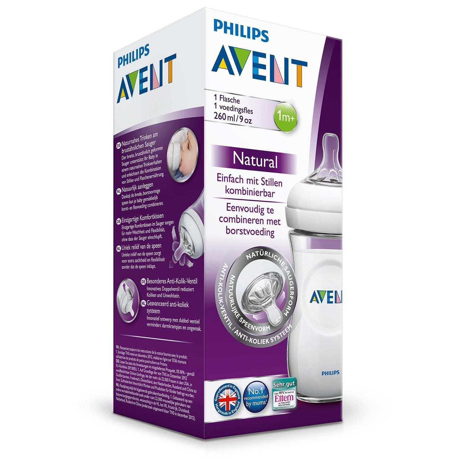 Philips Avent 9 Ounce Natural Bottle With Medium Flow Nipple 2 Pack New Skin Soft 3m And Brush Free Shipping On Orders Over 45 Overstock 22959421
