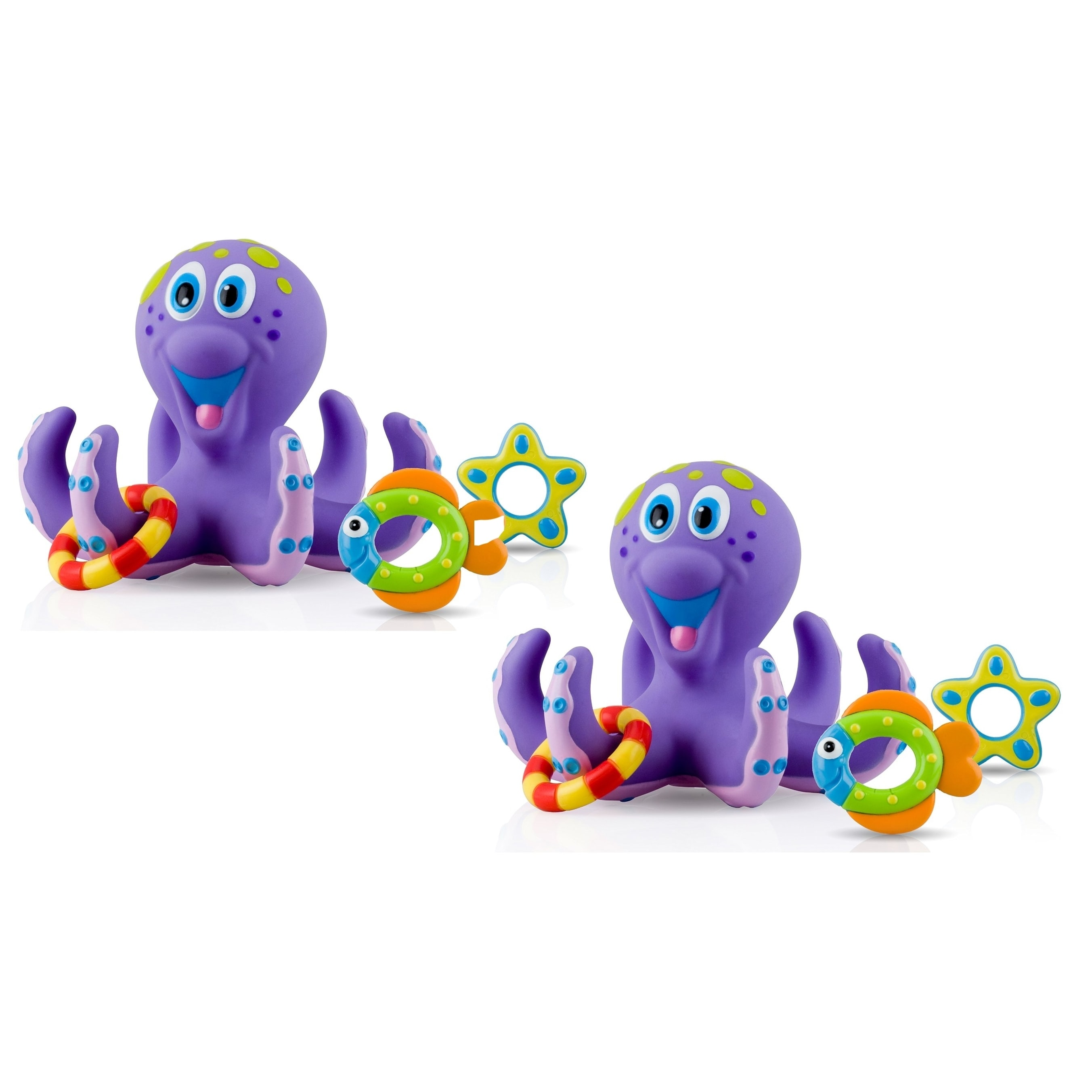 Nuby Octopus Hoopla Bathtime Fun Toys - 2 Count - Free Shipping On ...
