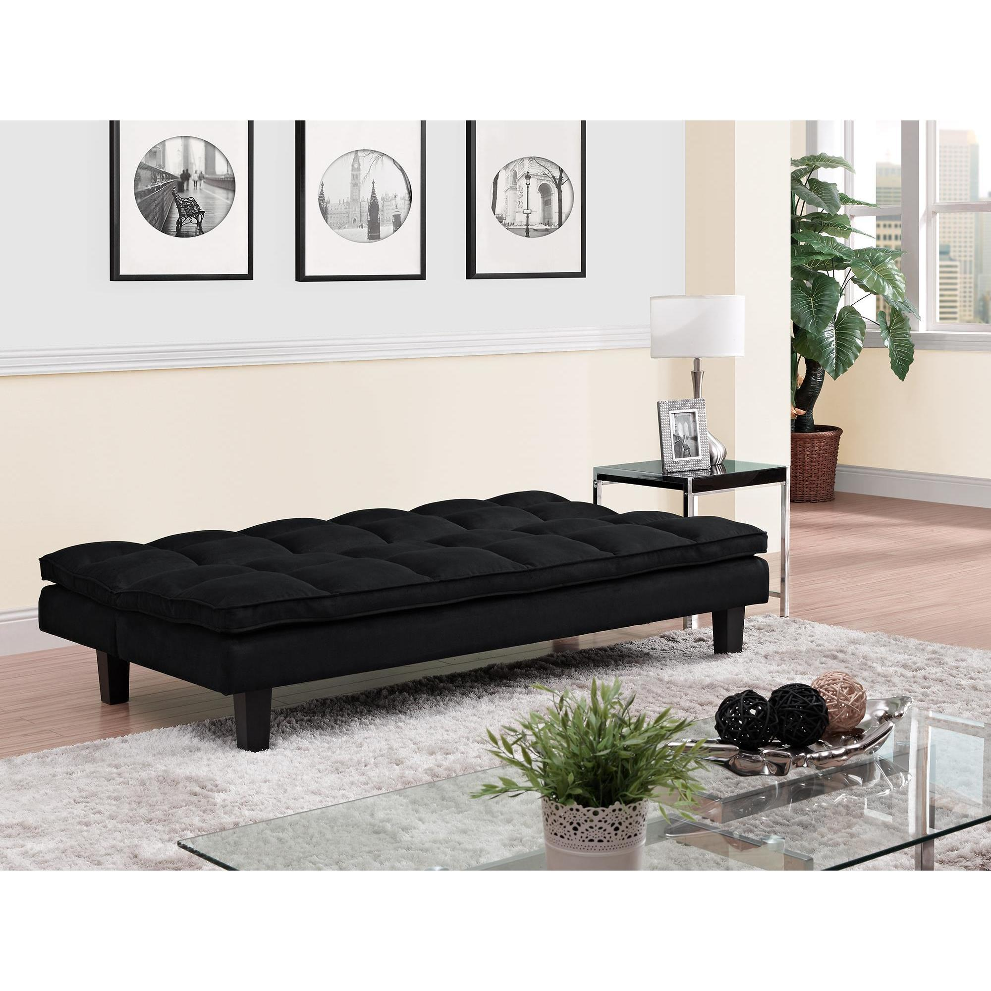 Dhp Allegra Pillowtop Black Futon On Free Shipping Today Com 16635331