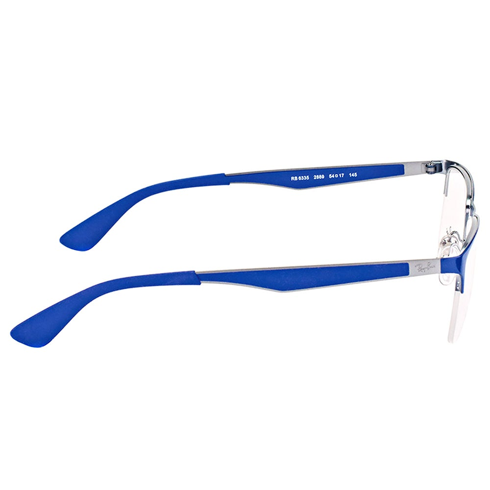 70da15b6e91 Shop Ray-Ban RX 6335 2889 Gunmetal on Top Electric Blue Metal Semi-rimless  56-millimeter Eyeglasses - Free Shipping Today - Overstock - 16636697