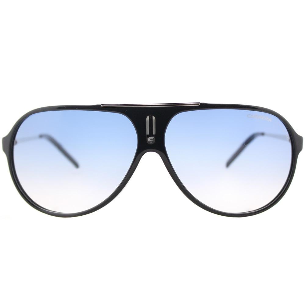 aeaccfefca909 Shop Carrera Hot S CSA 1P Black Palladium Plastic Aviator Sunglasses Azure  Blue Gradient Lens - Free Shipping Today - Overstock - 16639655