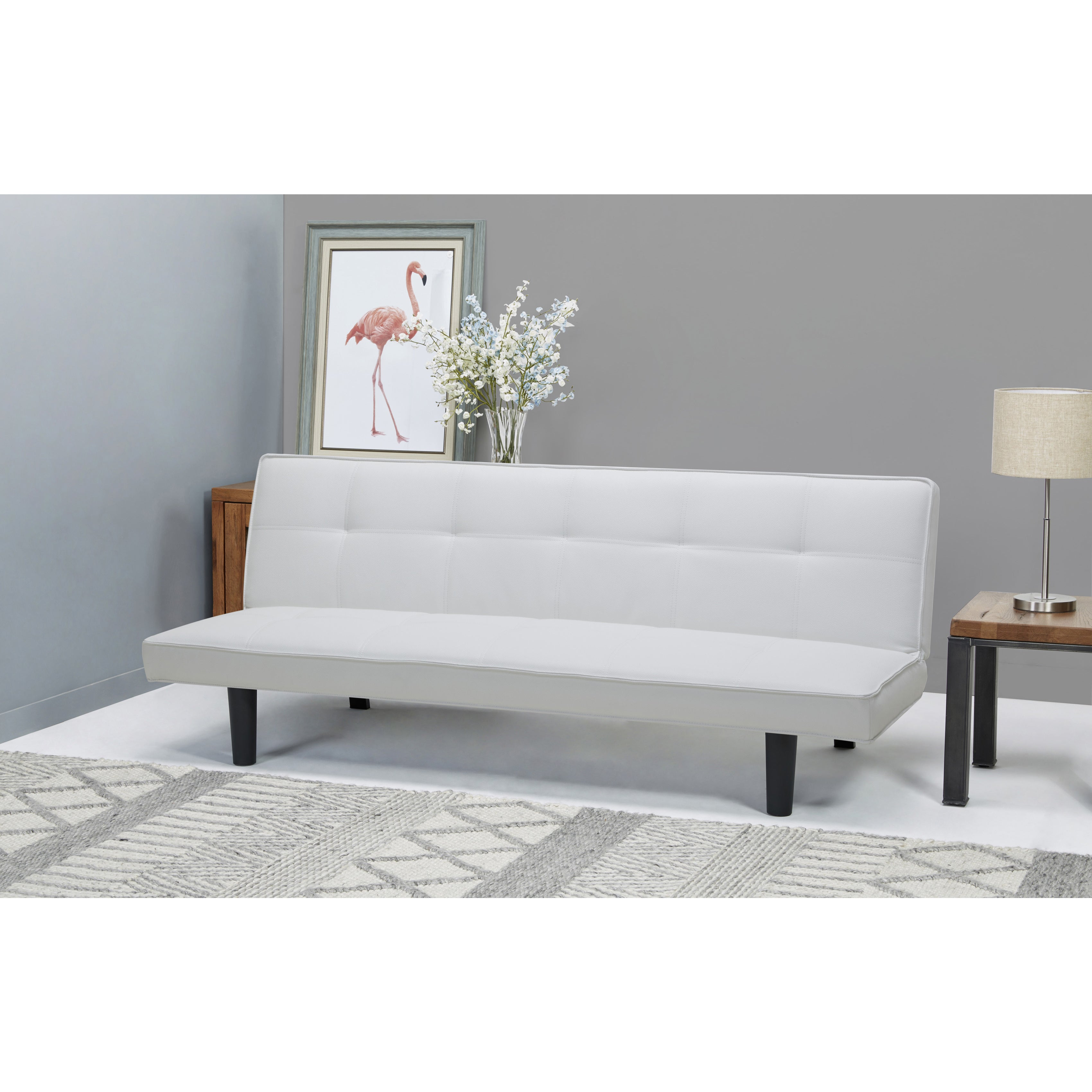 Sofa Hudson hudson white convertible sofa bed free shipping today overstock