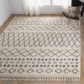 Nourison Moroccan Marrakesh Shag Cream Area Rug (5'3X7'11)