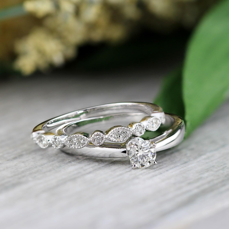 Auriya 14karat Gold 12ct TDW VintageInspired Diamond Solitaire