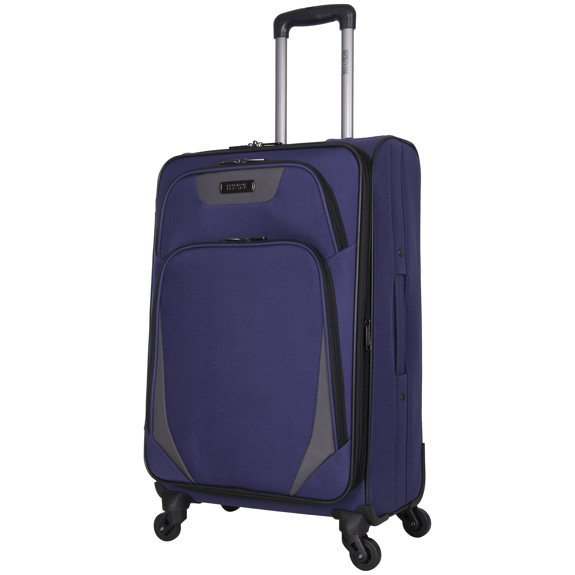 Shop Kenneth Cole Reaction  Going Places  24-inch Lightweight Expandable  4-wheel Spinner Checked Suitcase - Free Shipping Today - Overstock -  16654246 9c70bb8777a37