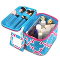 Zodaca Blue Quatrefoil Lightweight Makeup Travel Cosmetic Bag Case Multifunction Pouch Toiletry Organizer