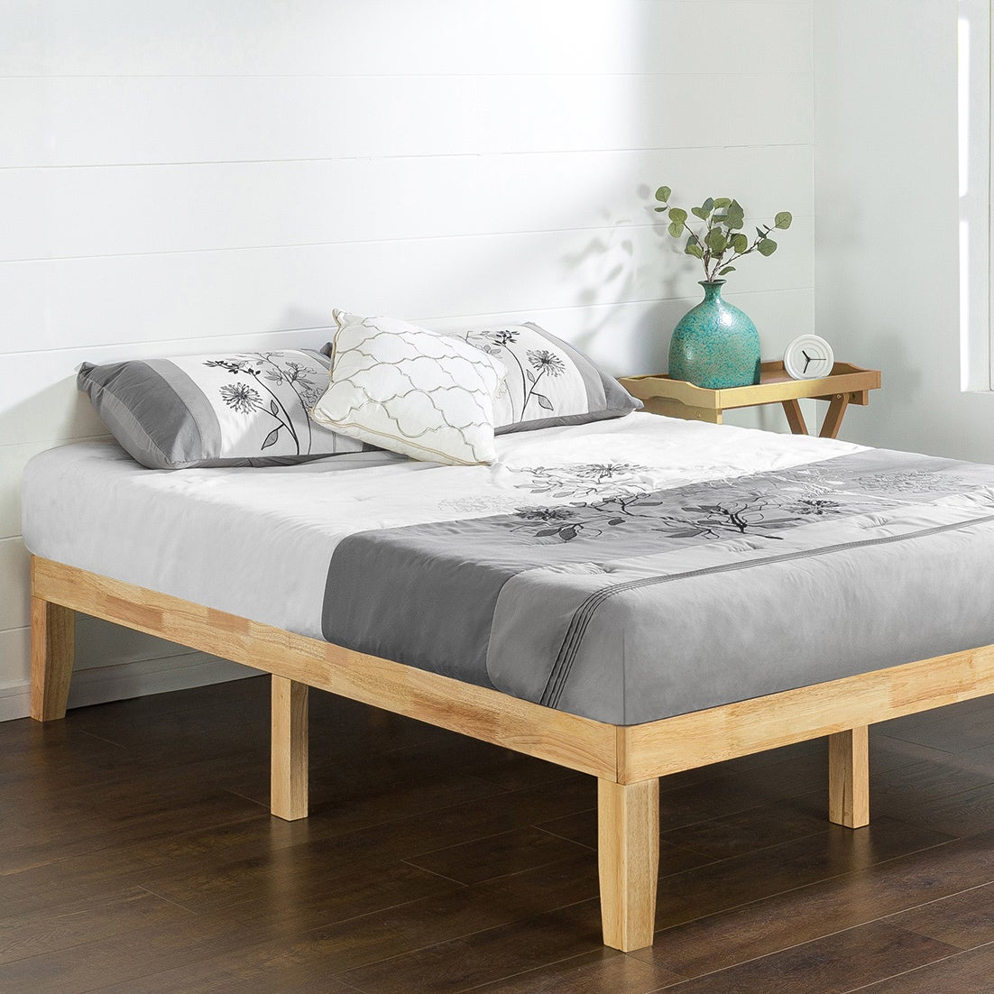 Shop Priage By Zinus Solid Wood Platform Bed Natural Free