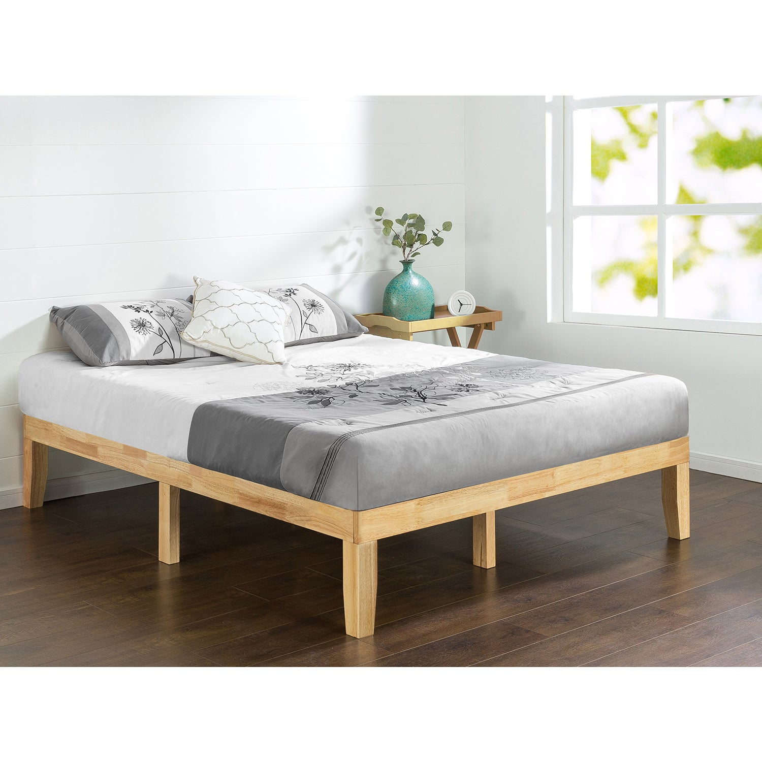 Priage Natural Solid Wood Platform Bed Free Shipping Today