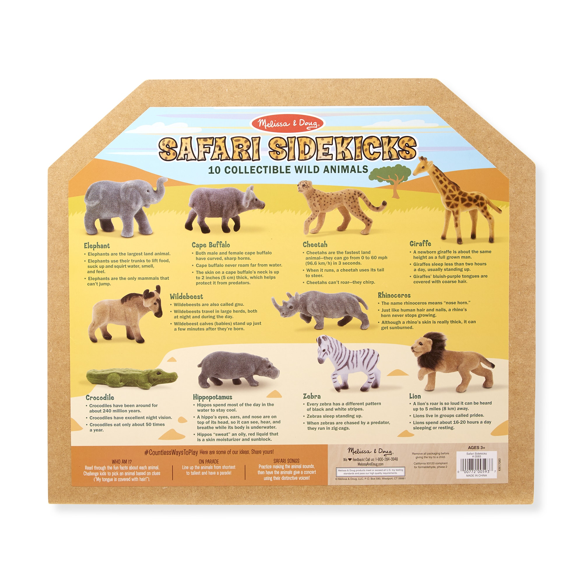 Midvale Heights Bison Celebrate >> Shop Melissa Doug Safari Sidekicks 10 Collectible Wild Animals