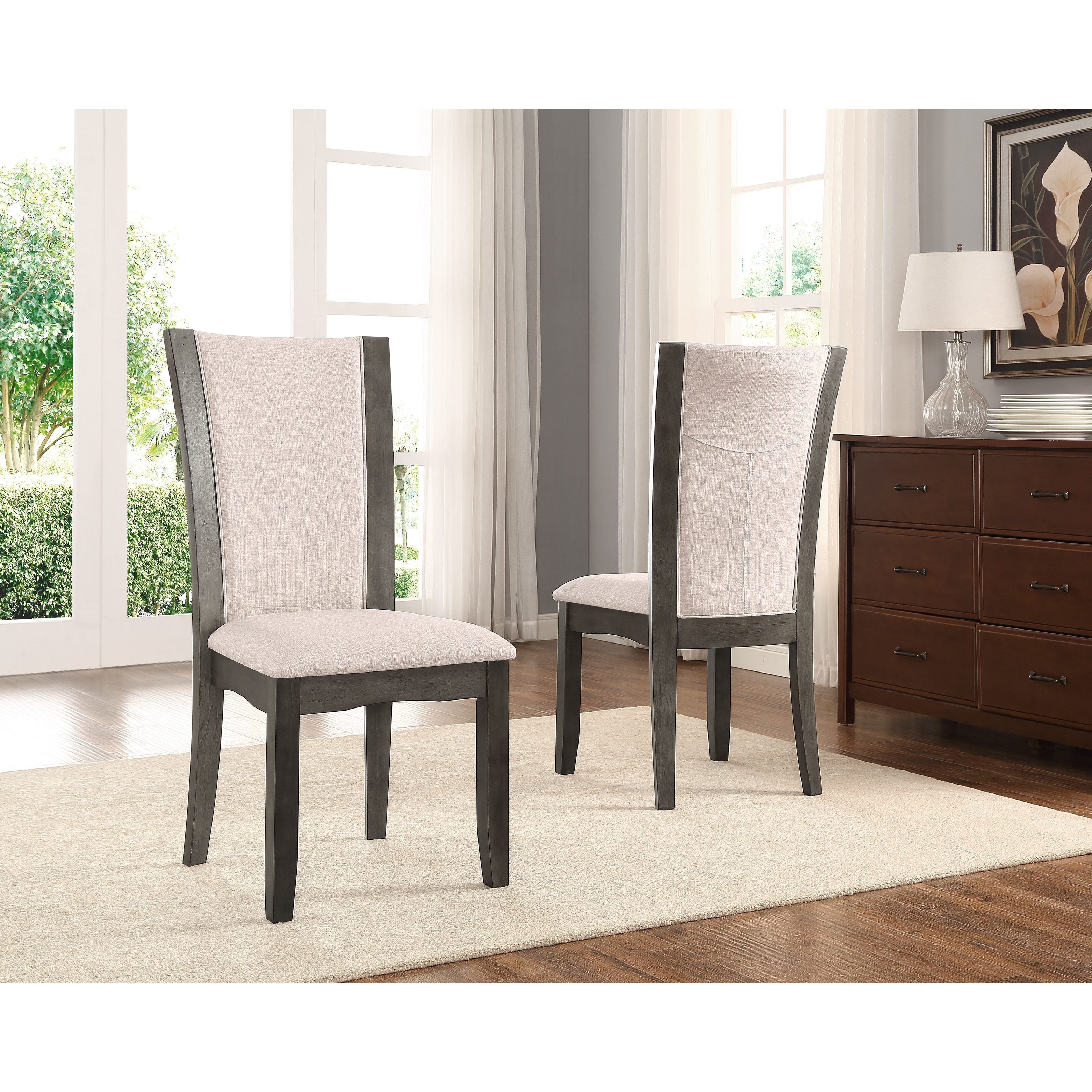 Kecco Grey 5 Piece Glass Top Dining Set, Table With 4 Chairs   Free  Shipping Today   Overstock.com   23004165