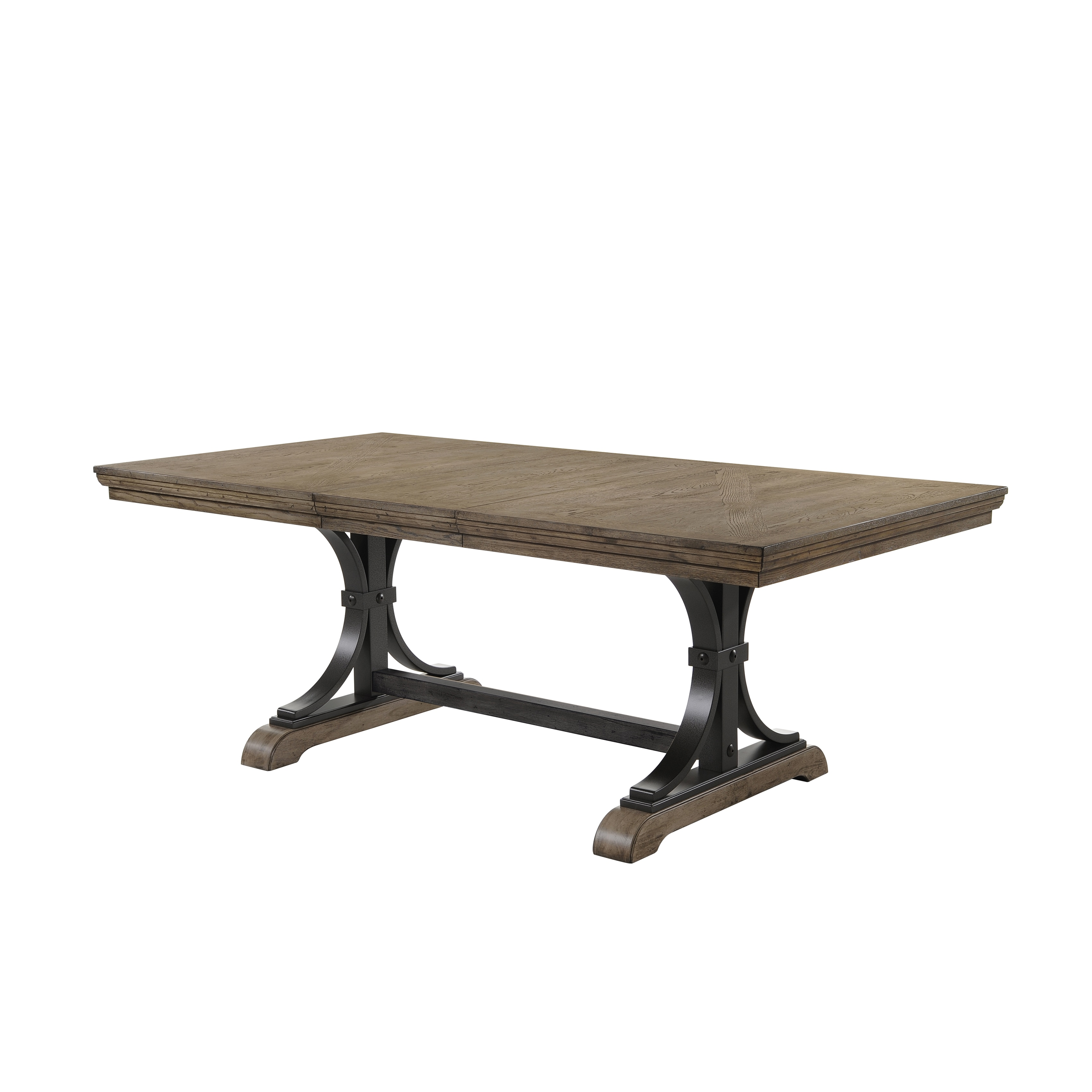 Shop Birmingham 7 Piece Driftwood Finish Table With Nail Head Arm Chairs  Dining Set   Free Shipping Today   Overstock.com   16685637