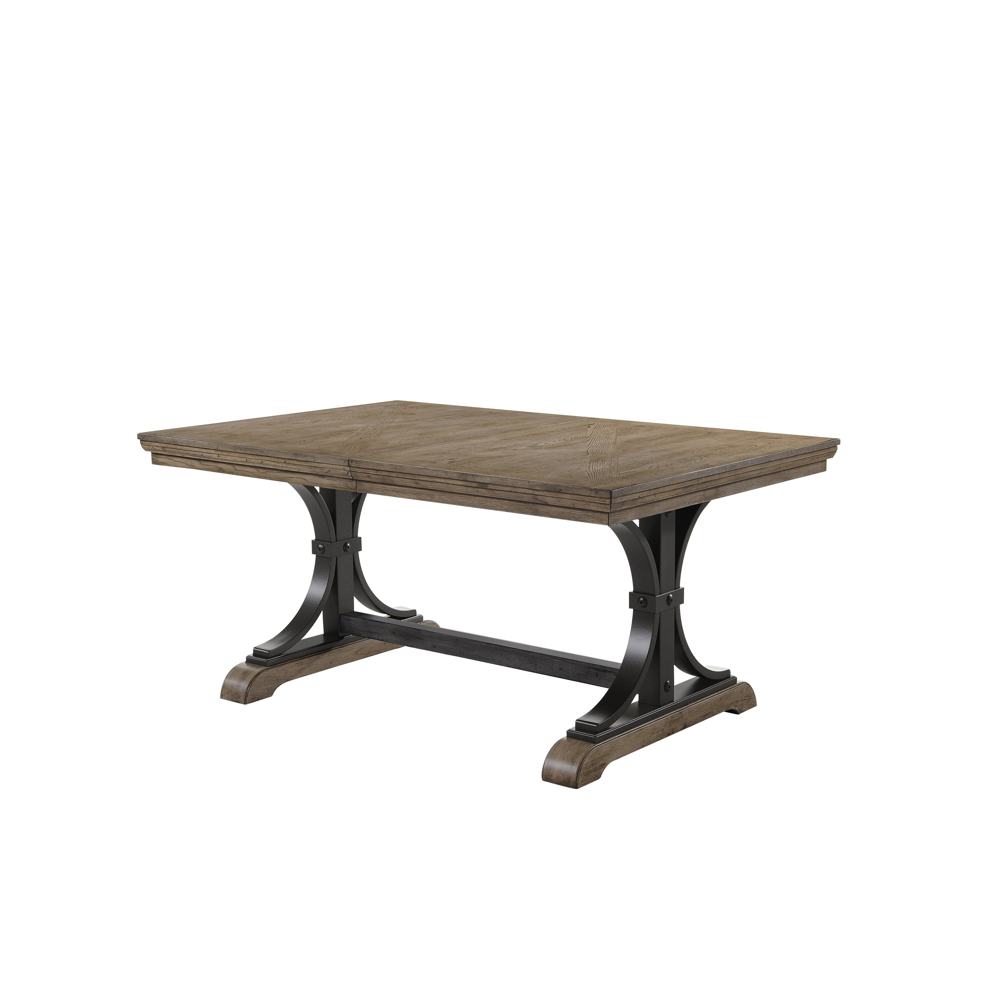 Shop Birmingham 7 Piece Driftwood Finish Table With Nail Head Chairs Dining  Set   Free Shipping Today   Overstock.com   16685642