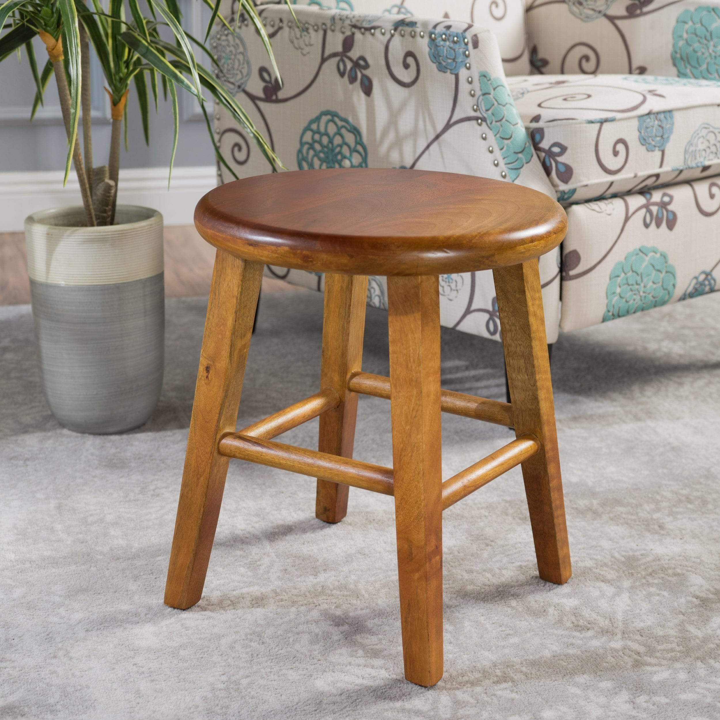 Shop Radburn Wood Bench Stool by Christopher Knight Home - Free ...
