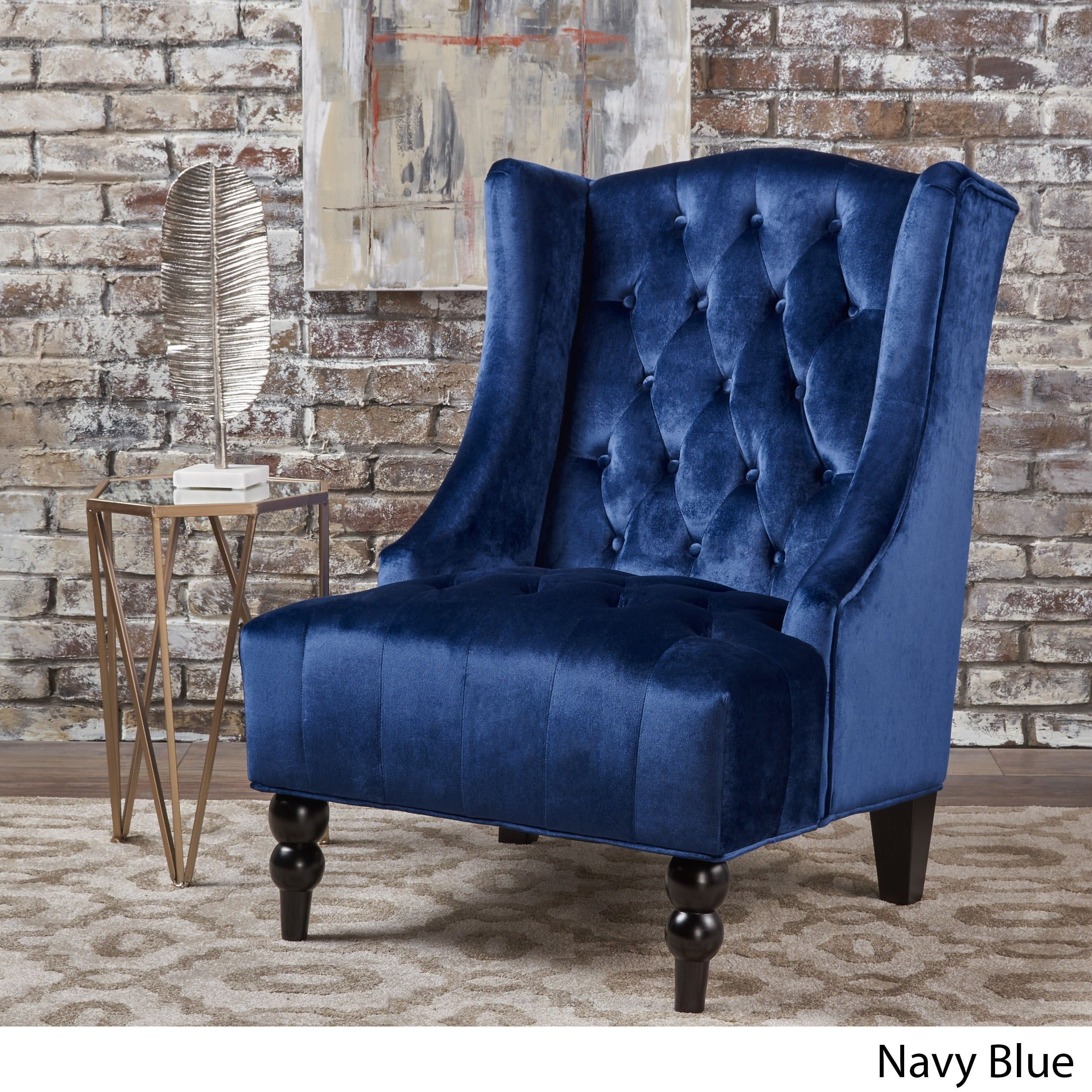 Toddman High Back Velvet Club Chair By Christopher Knight Home On Free Shipping Today 16688276