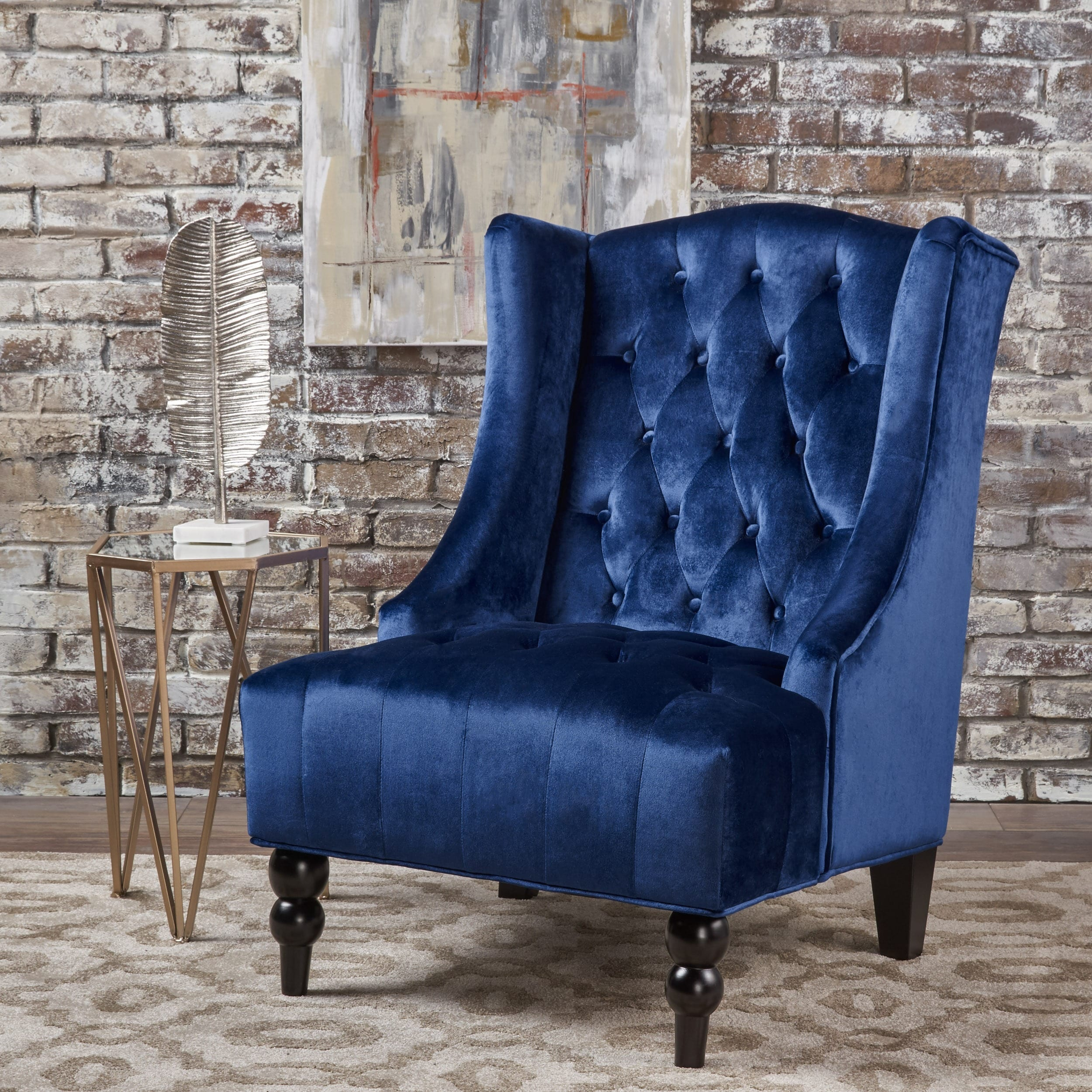 Superbe Shop Toddman High Back Velvet Club Chair By Christopher Knight Home   On  Sale   Free Shipping Today   Overstock.com   16688276