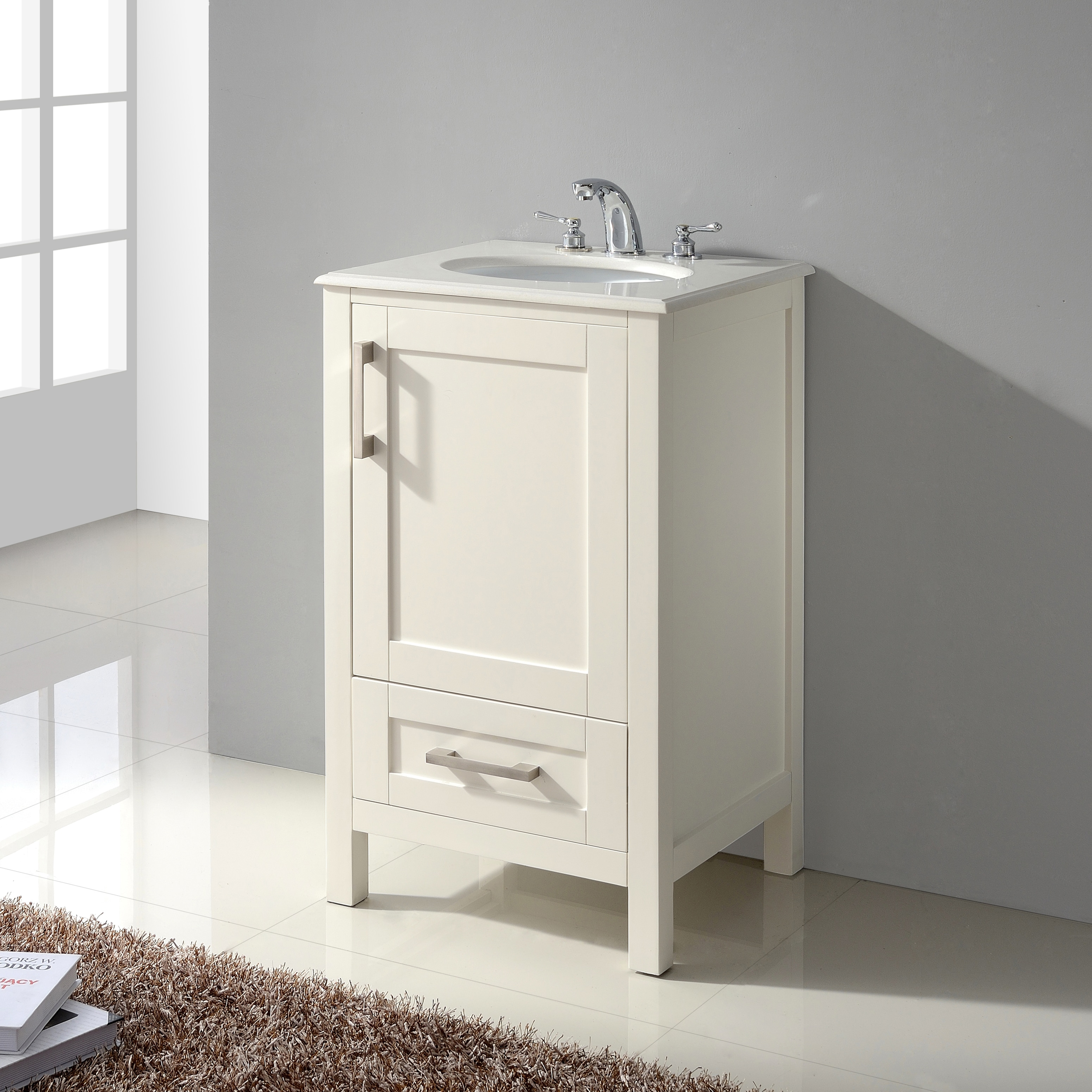 Attirant Shop WYNDENHALL Hartford 20 Inch White Bath Vanity With Quartz Marble Top    Free Shipping Today   Overstock.com   16690509