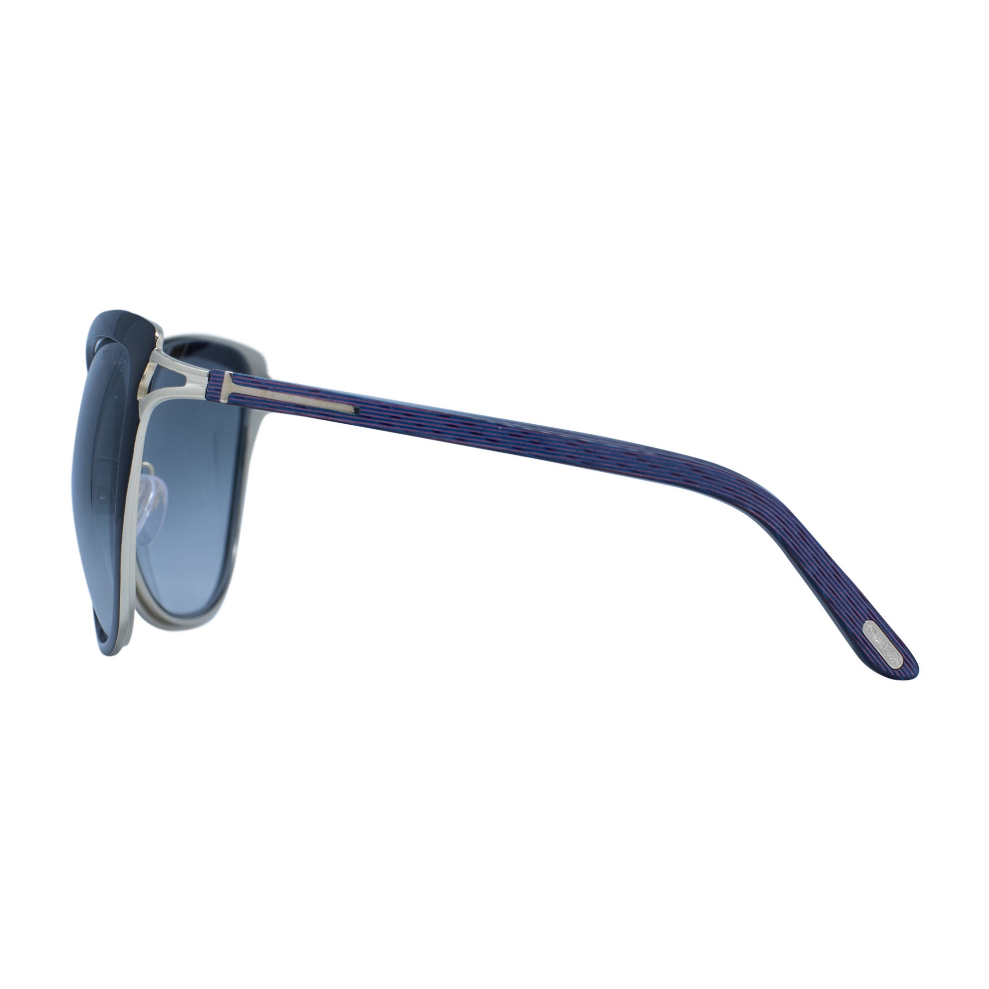 6f631eeefed870 Shop Tom Ford Sun 0322 32b Women s Black Frame Gold Detailing Gradient  Smoke Lens Sunglasses - Free Shipping Today - Overstock.com - 16692932