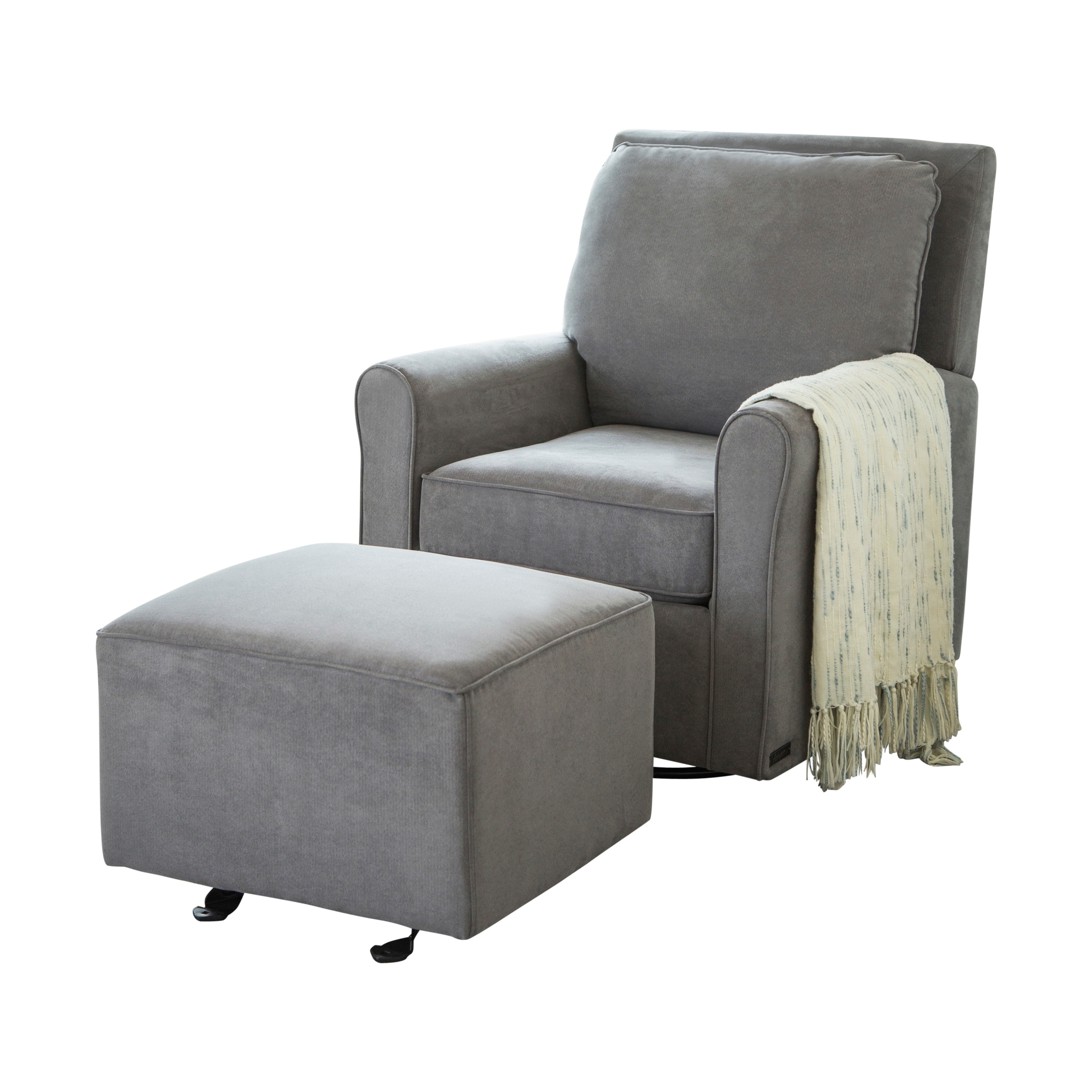 Abbyson Shiloh Fabric Gliding Chair And Ottoman On Free Shipping Today 16692966