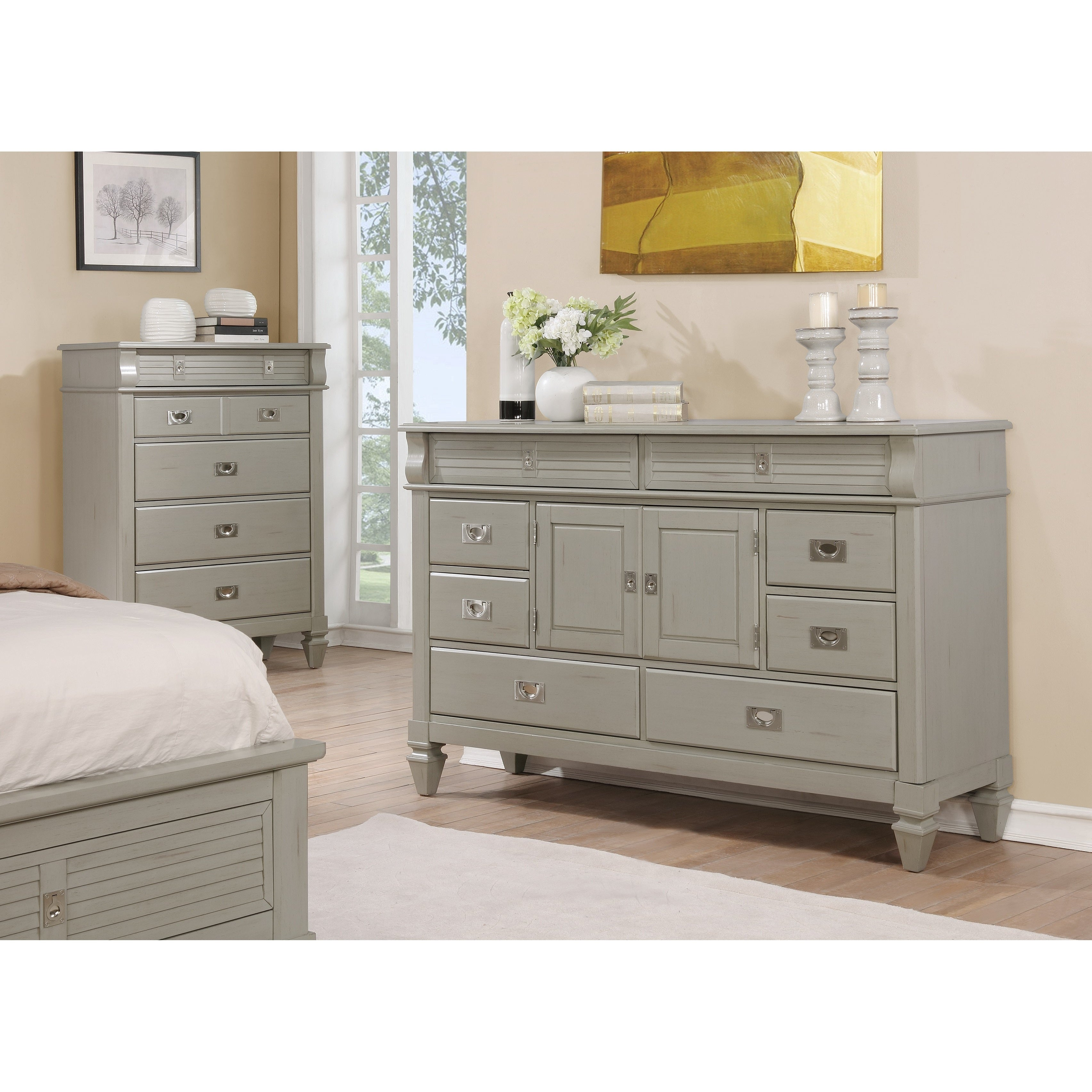 size bed queen nightstands chest bedroom waterfall shop deco art set vintage