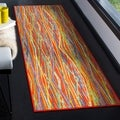 Safavieh Aztec Southwestern Abstract Orange/ Multi Runner Rug (2'3 x 8')