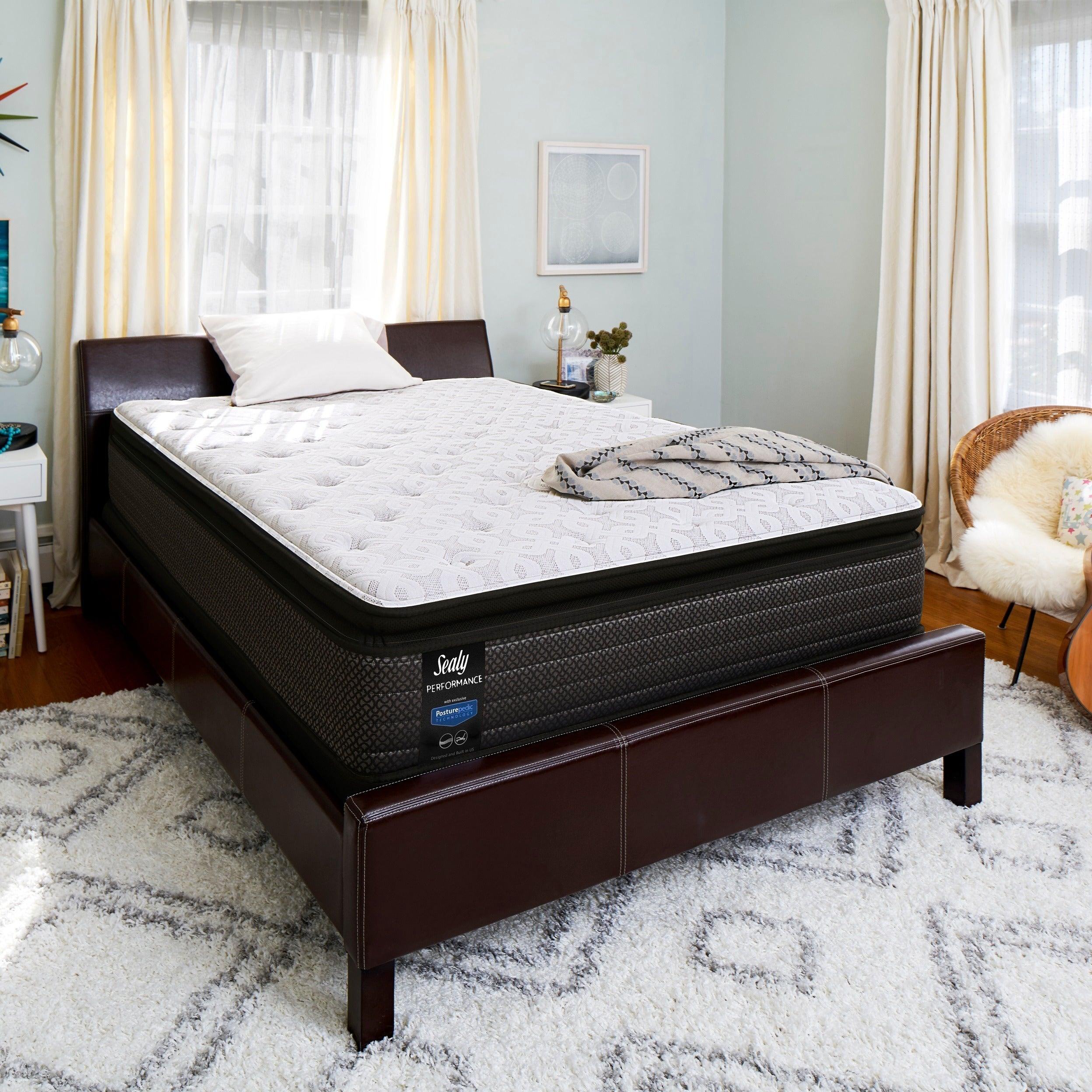 top p qlt plept mattress wid pillow euro sb plush size hei prod presnell sealy white queen sears