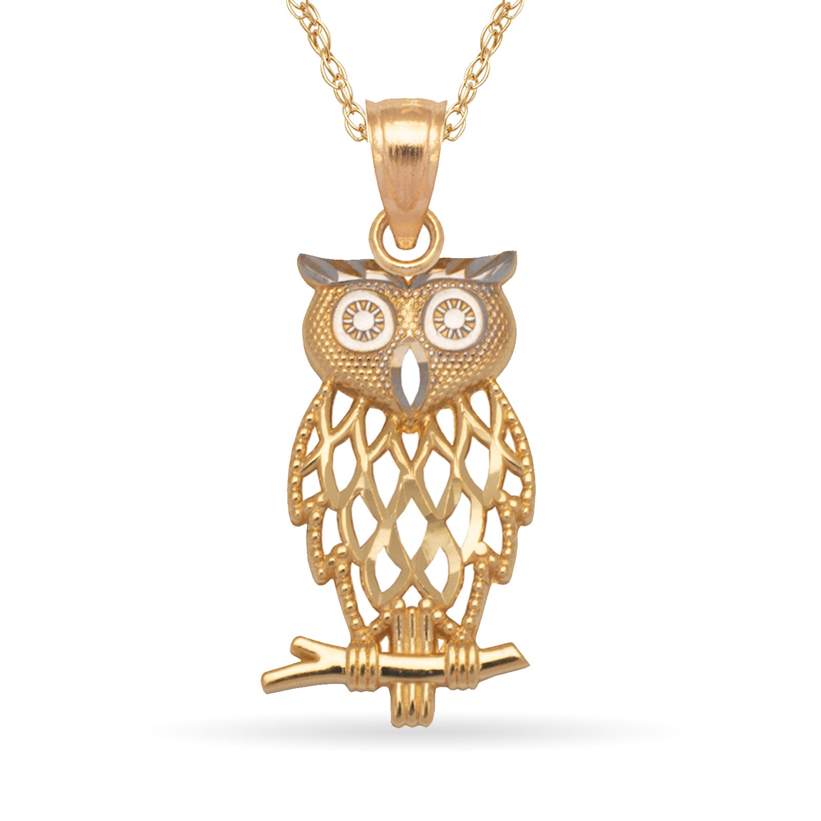 jewelry metallic lyst in designer tw s t macys w diamond owl pendant silver sterling ct necklace featured macy