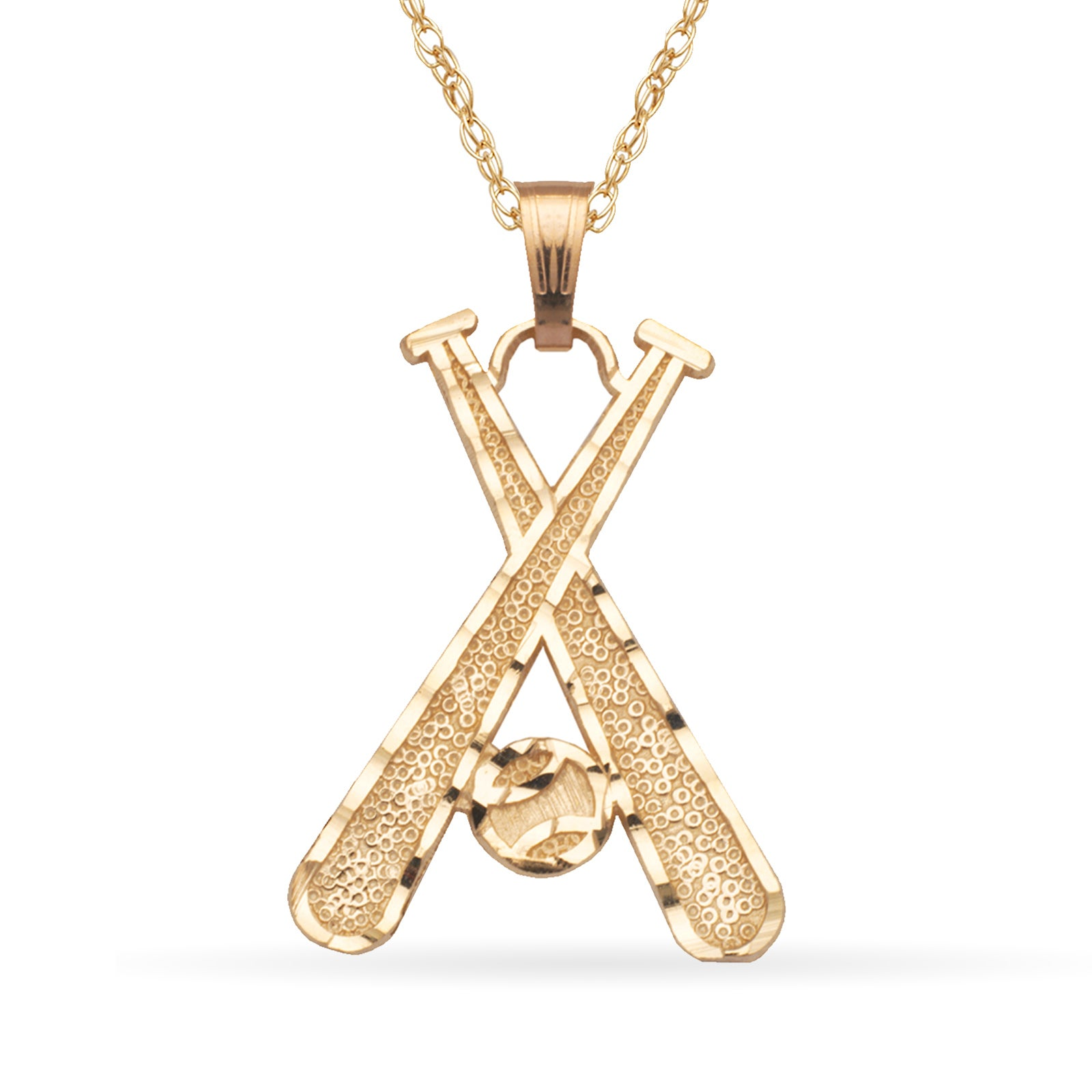 fivetool necklace myshoplah cross baseball bat pendant