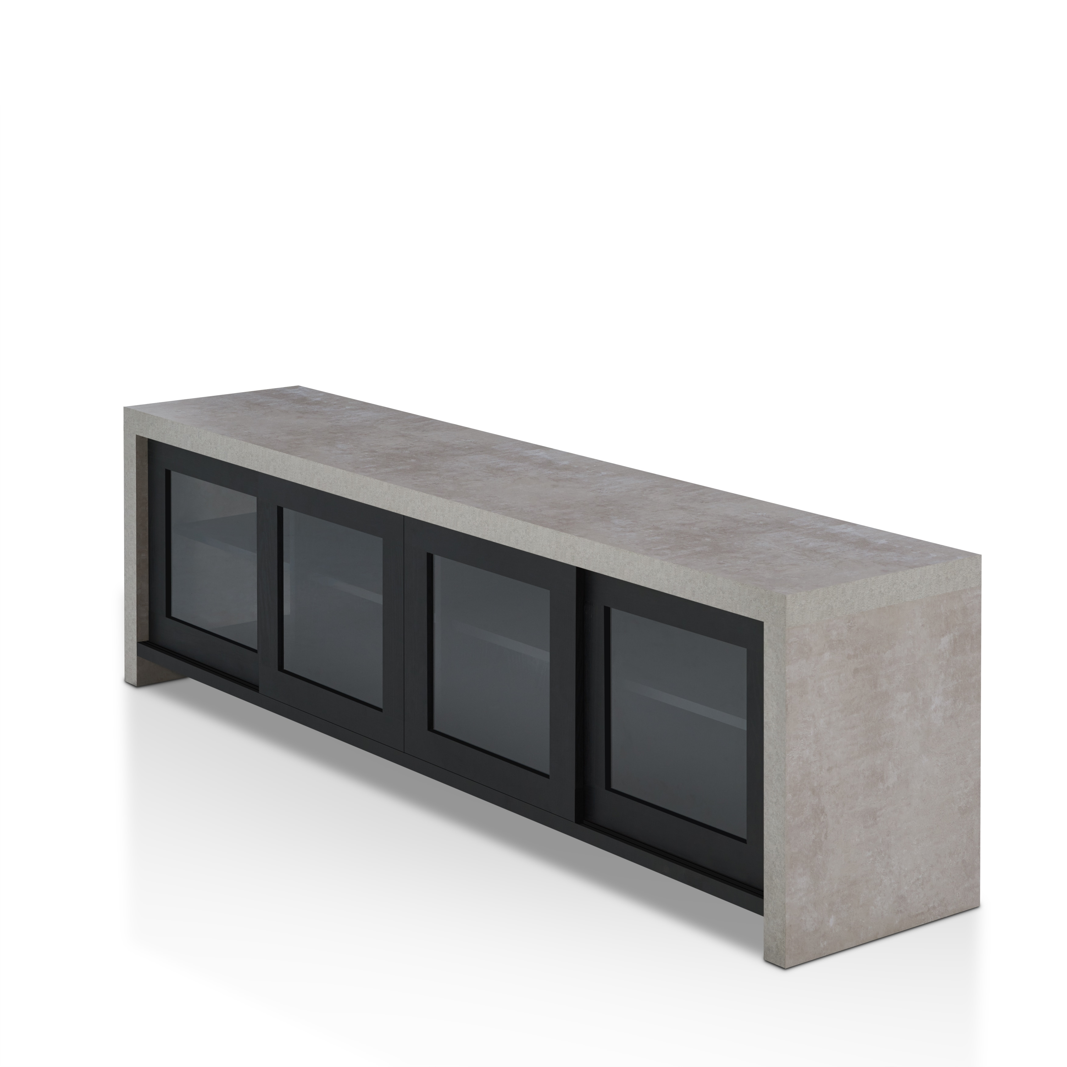 Nice Furniture Of America Haylin Industrial Cement Like Multi Storage TV Stand    Free Shipping Today   Overstock.com   23014433