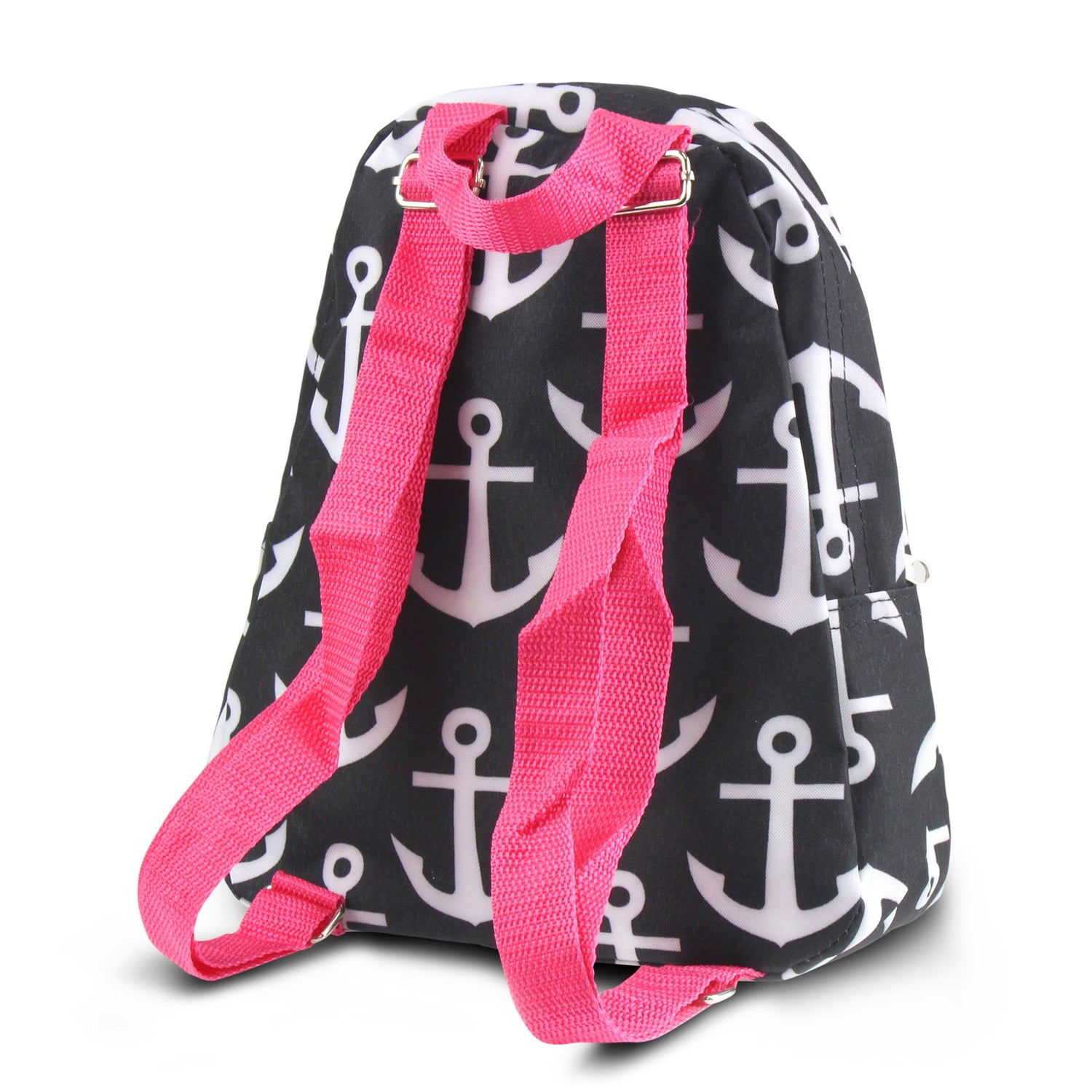 7bf319b8dc29 Shop Zodaca Black Anchors with Pink Trim Stylish Kids Small Backpack  Outdoor Shoulder School Zipper Bag with Adjustable Strap - Free Shipping On  Orders Over ...