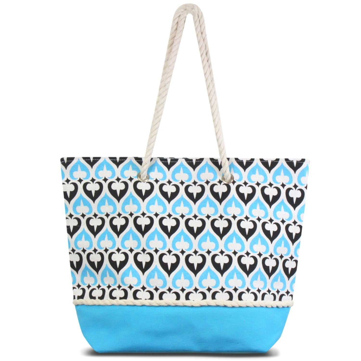 763a099f32d5 Shop Zodaca Blue Spade Women Handbag Ladies Large Shoulder Tote Purse  Messenger Bag - Free Shipping On Orders Over  45 - Overstock.com - 16697599