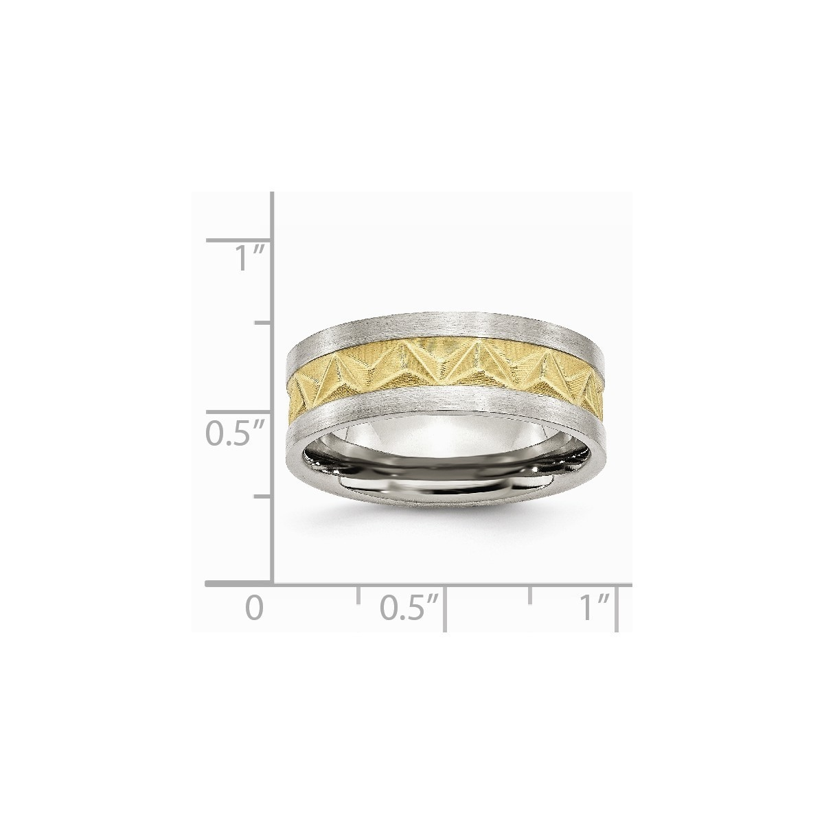 Diamond Cut Band 316L Stainless Steel Ring Sizes 7-13 WEDDING Engagement Band
